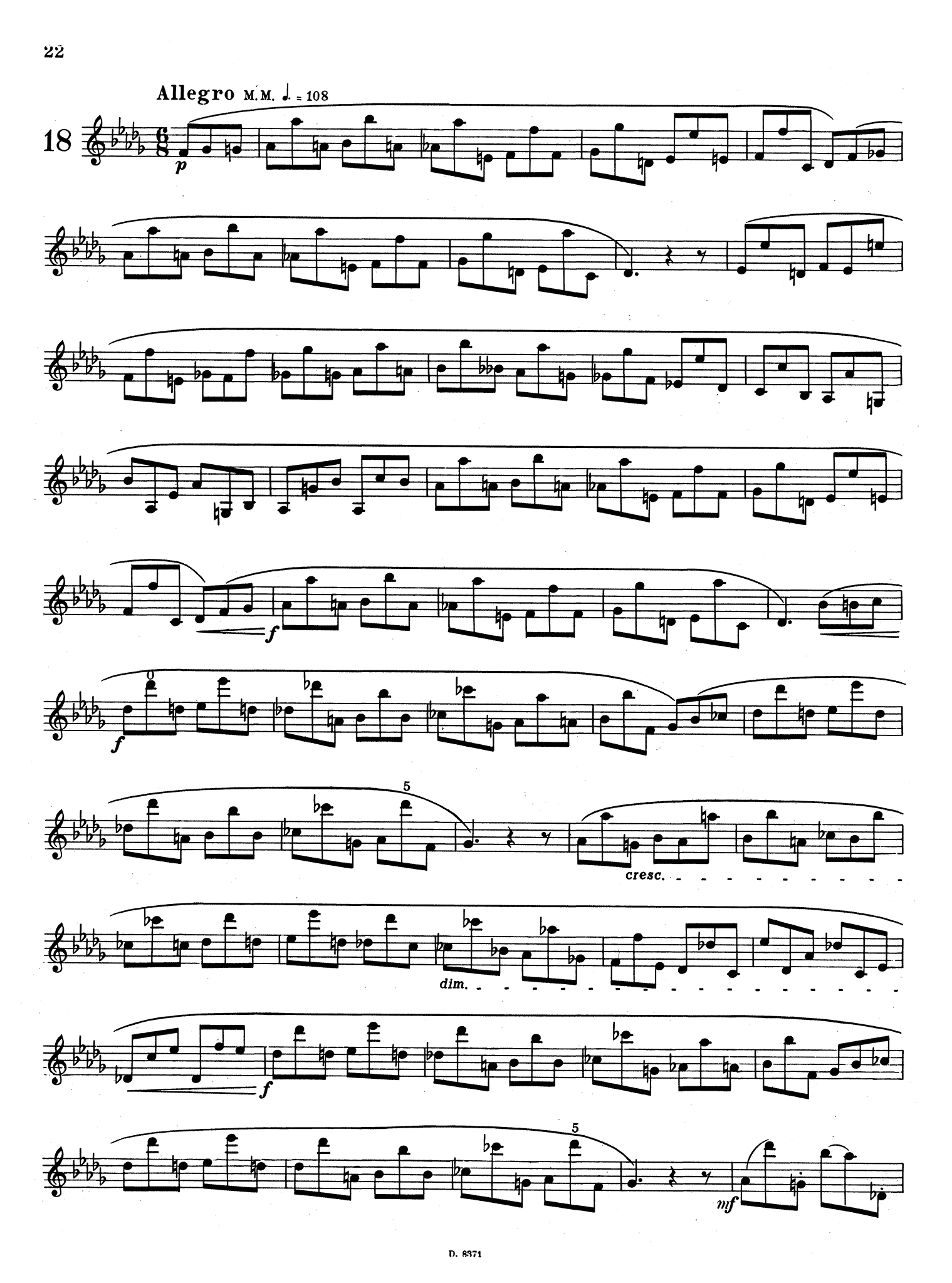 School for Clarinet, Book 3 Page 22