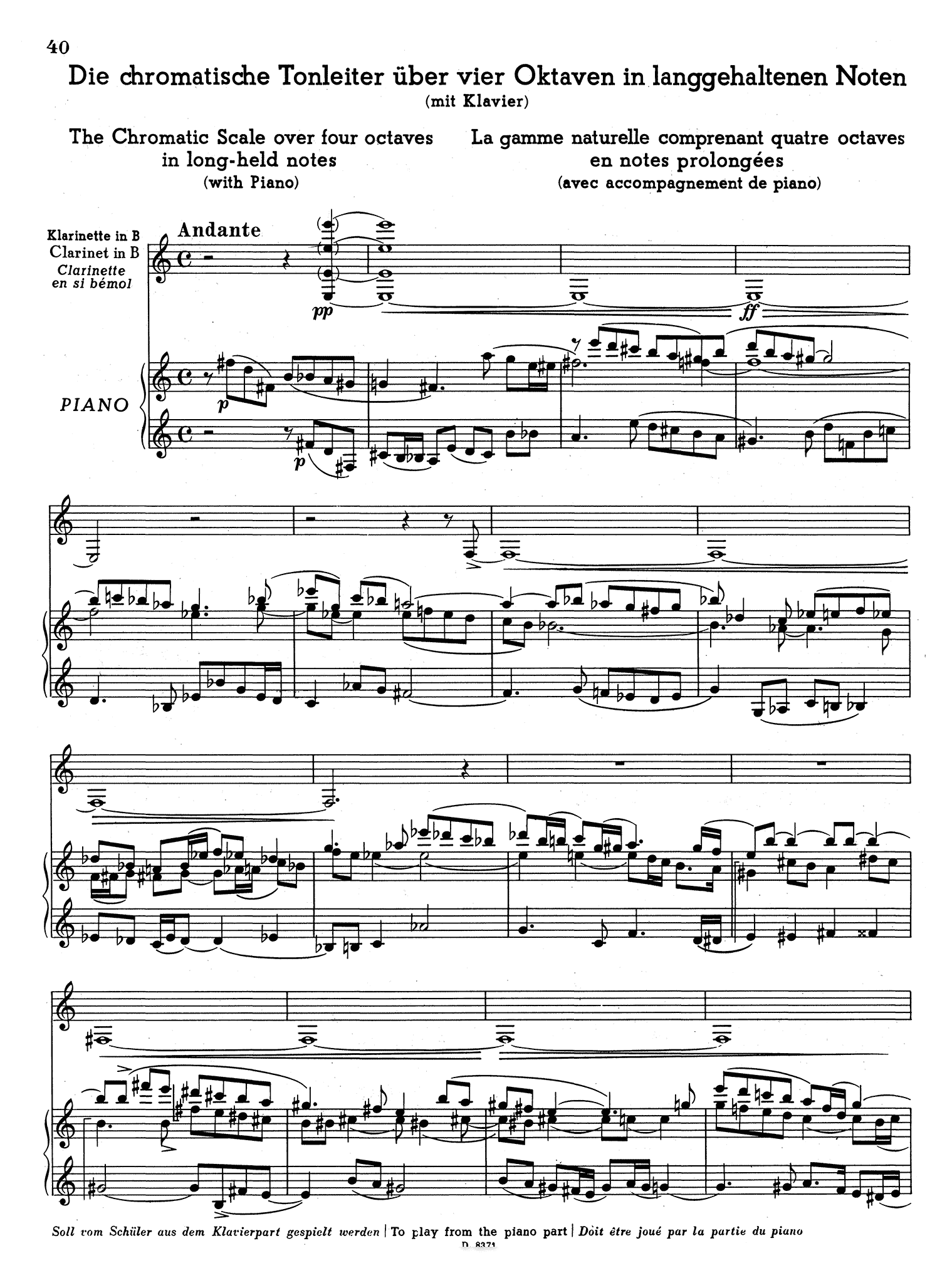 School for Clarinet, Book 3 Page 40