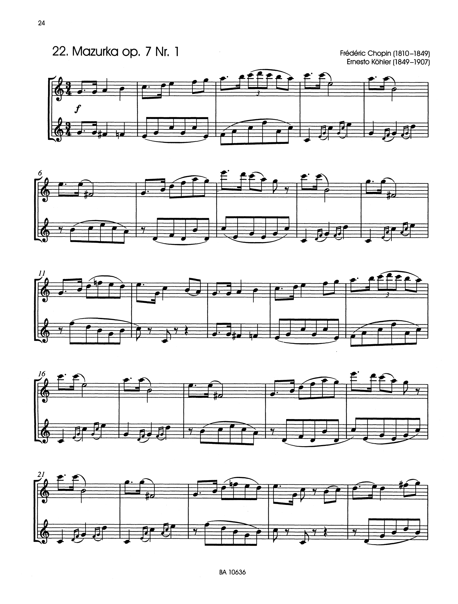 Classic Hits for 2 Clarinets Page 24