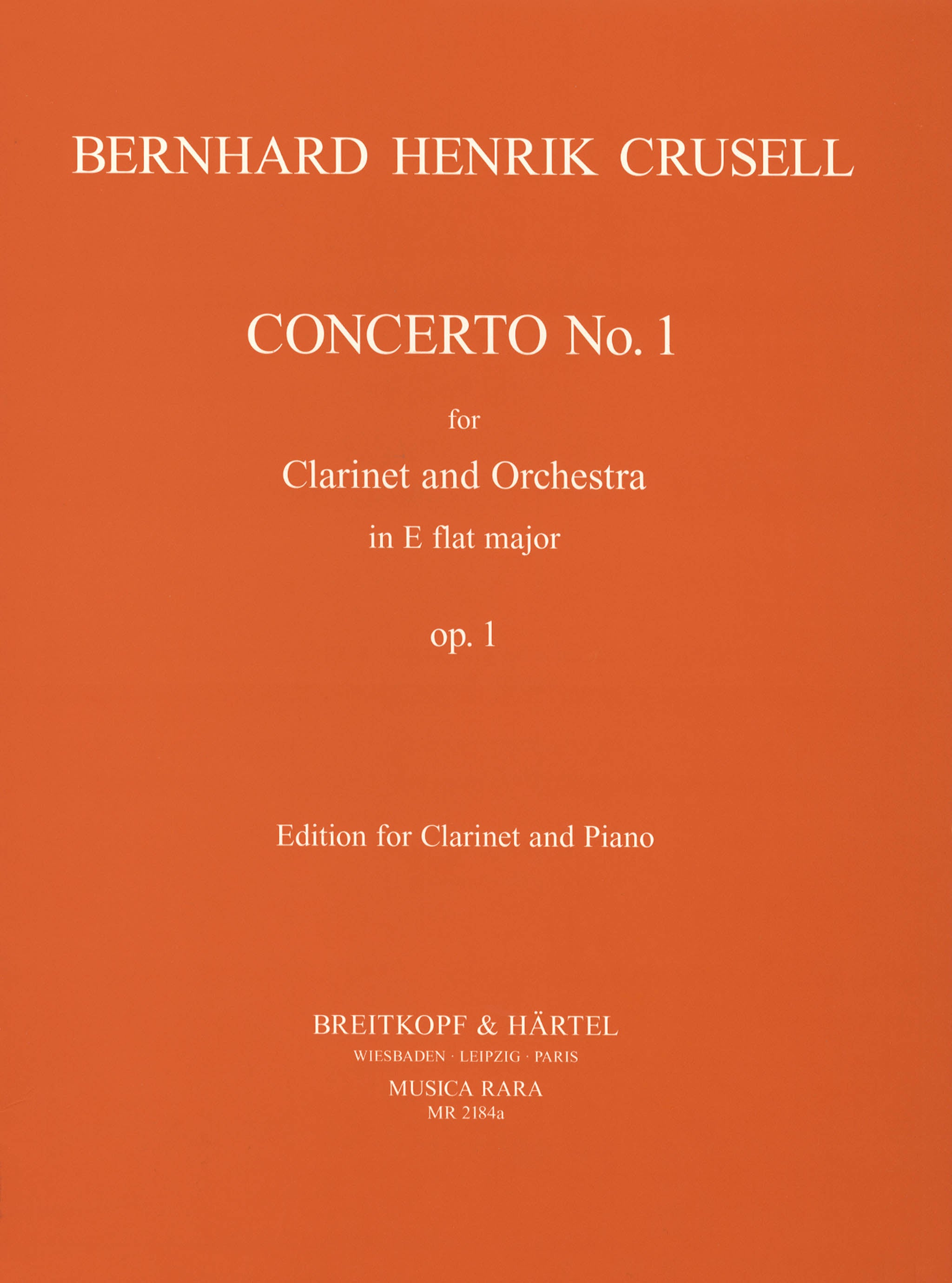 Crusell Clarinet Concerto in E-flat Major, Op. 1 Cover