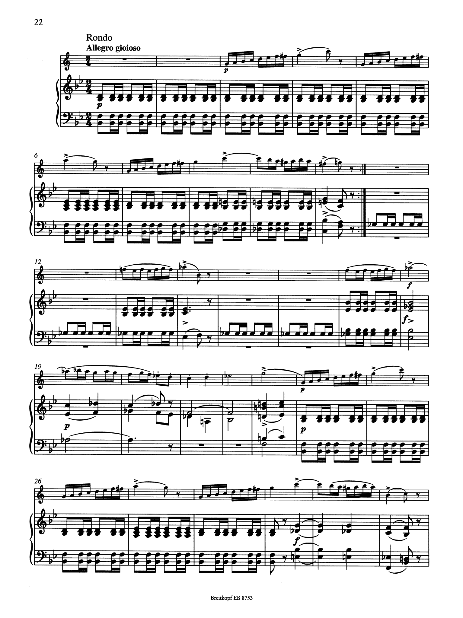 Clarinet Quintet, Op. 34 Piano reduction - Movement 4