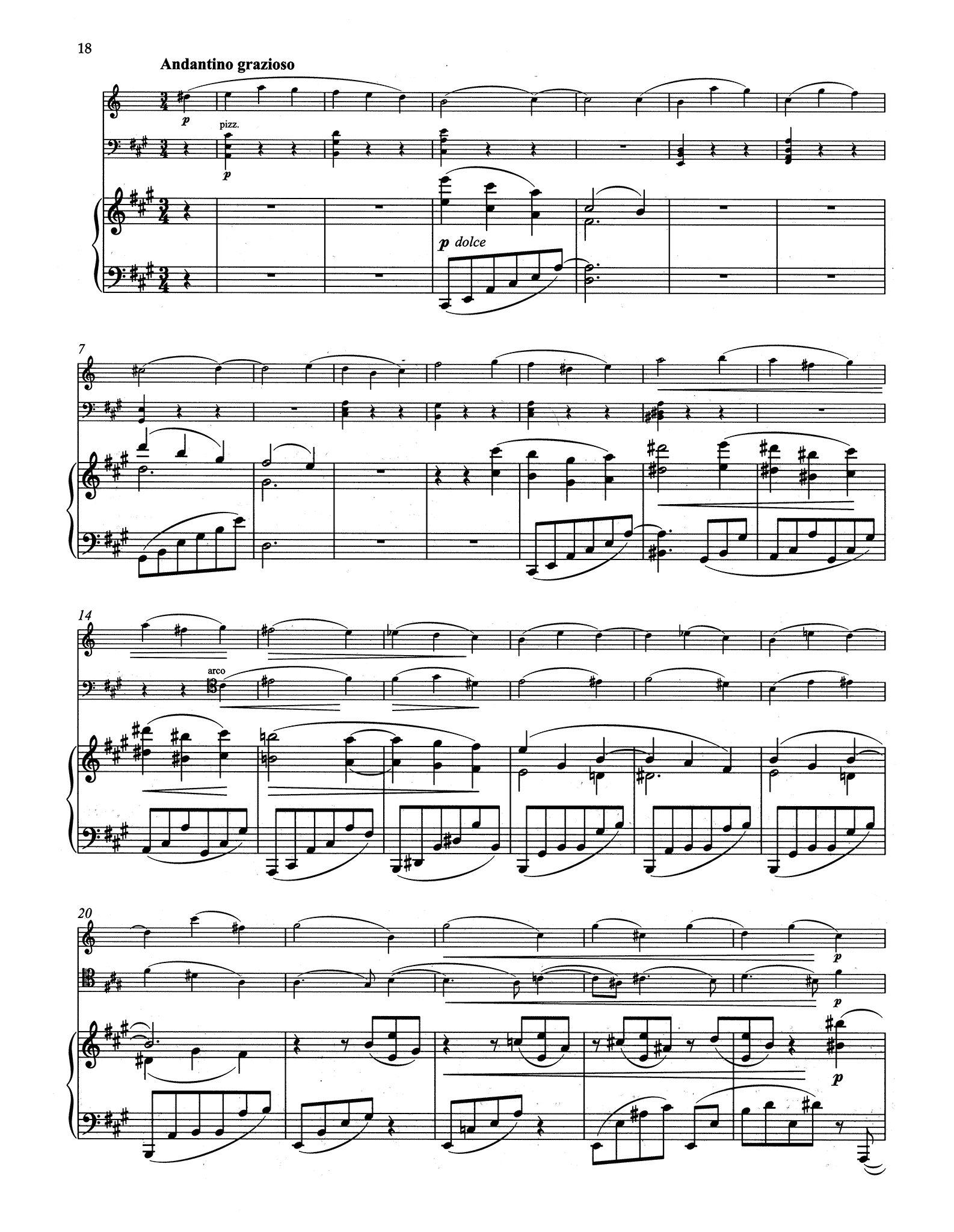 Clarinet Trio in A Minor, Op. 114 - Movement 3