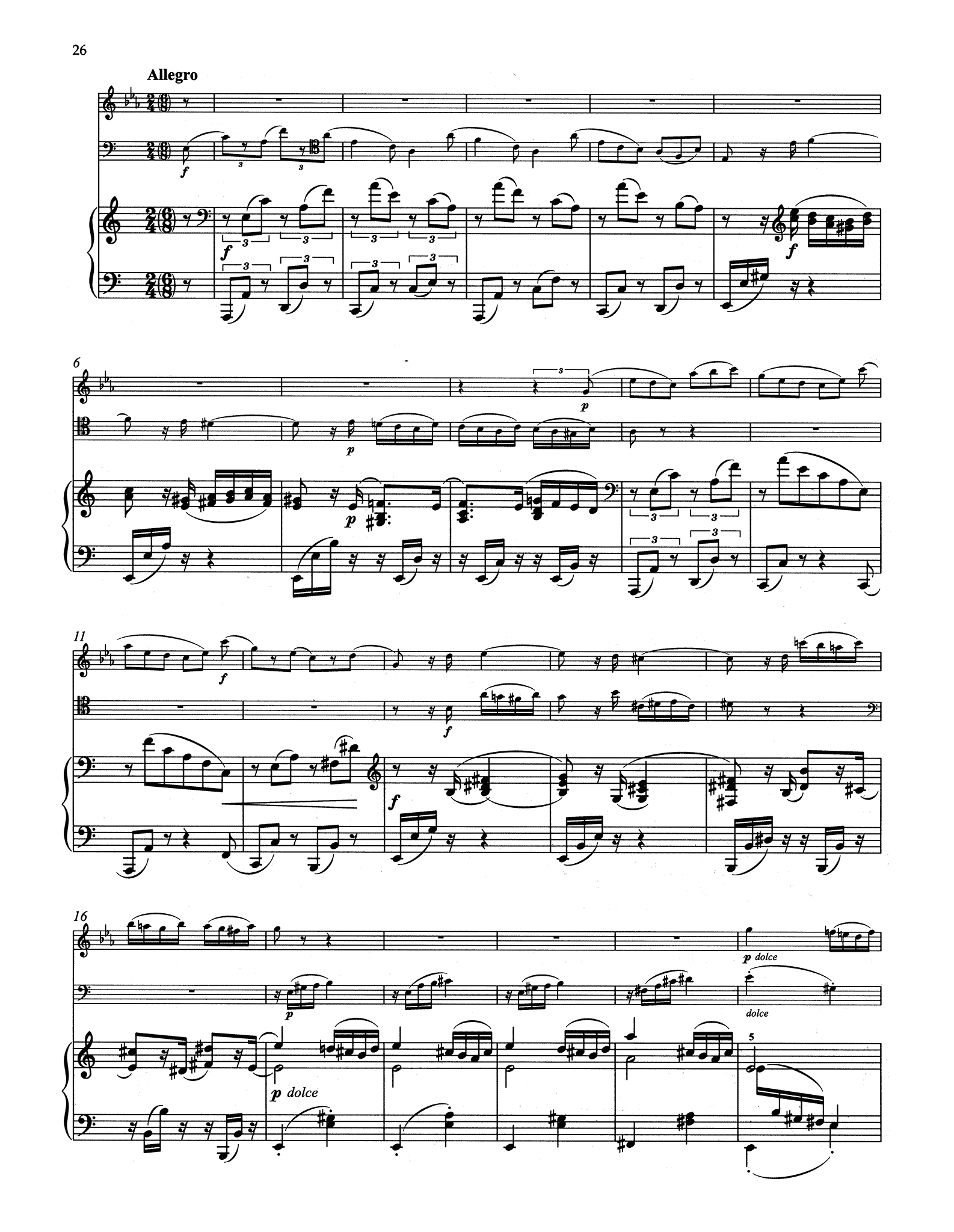 Clarinet Trio in A Minor, Op. 114 - Movement 4
