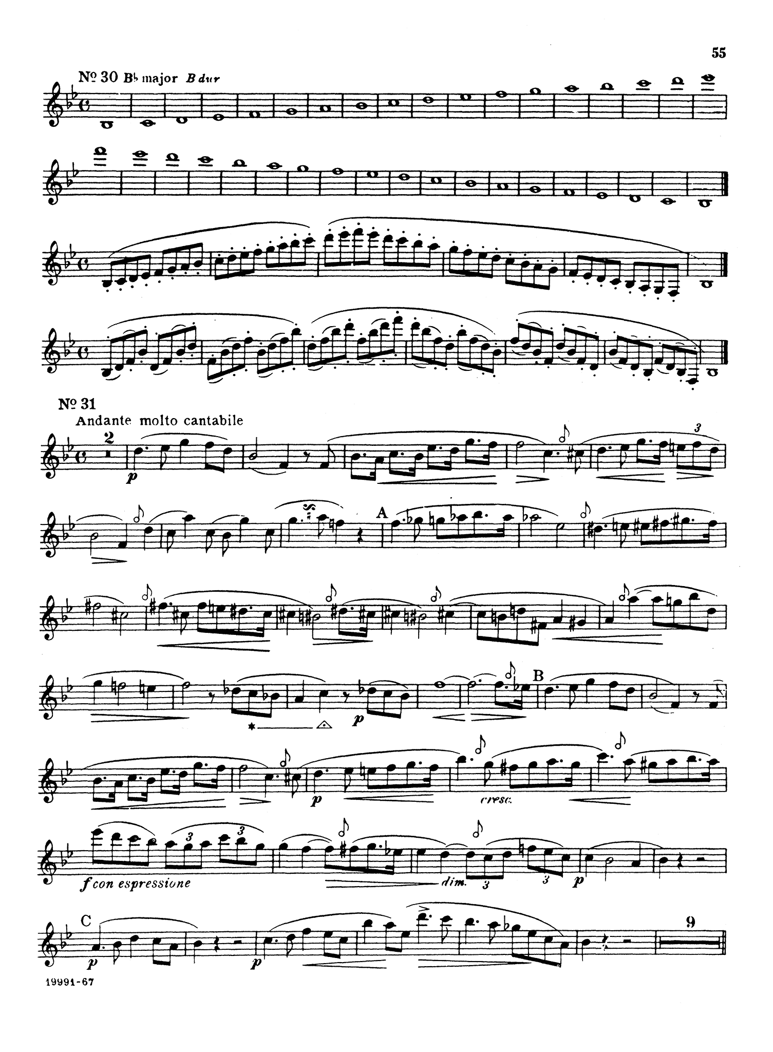 Clarinet Method, Op. 63, Divisions 1 & 2 Page 55