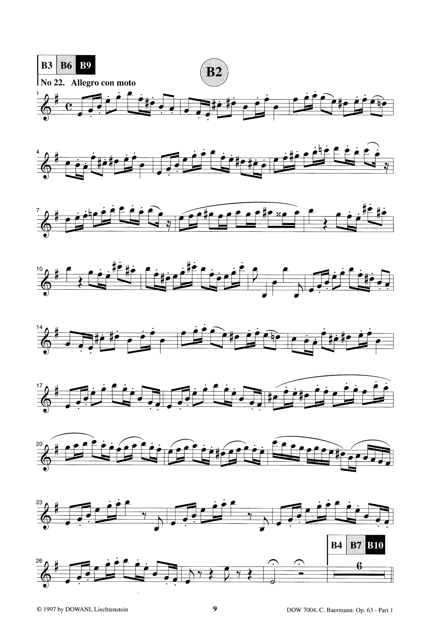 Clarinet Method, Op. 63, Div. II: Part 1 of 3 Clarinet part Page 9
