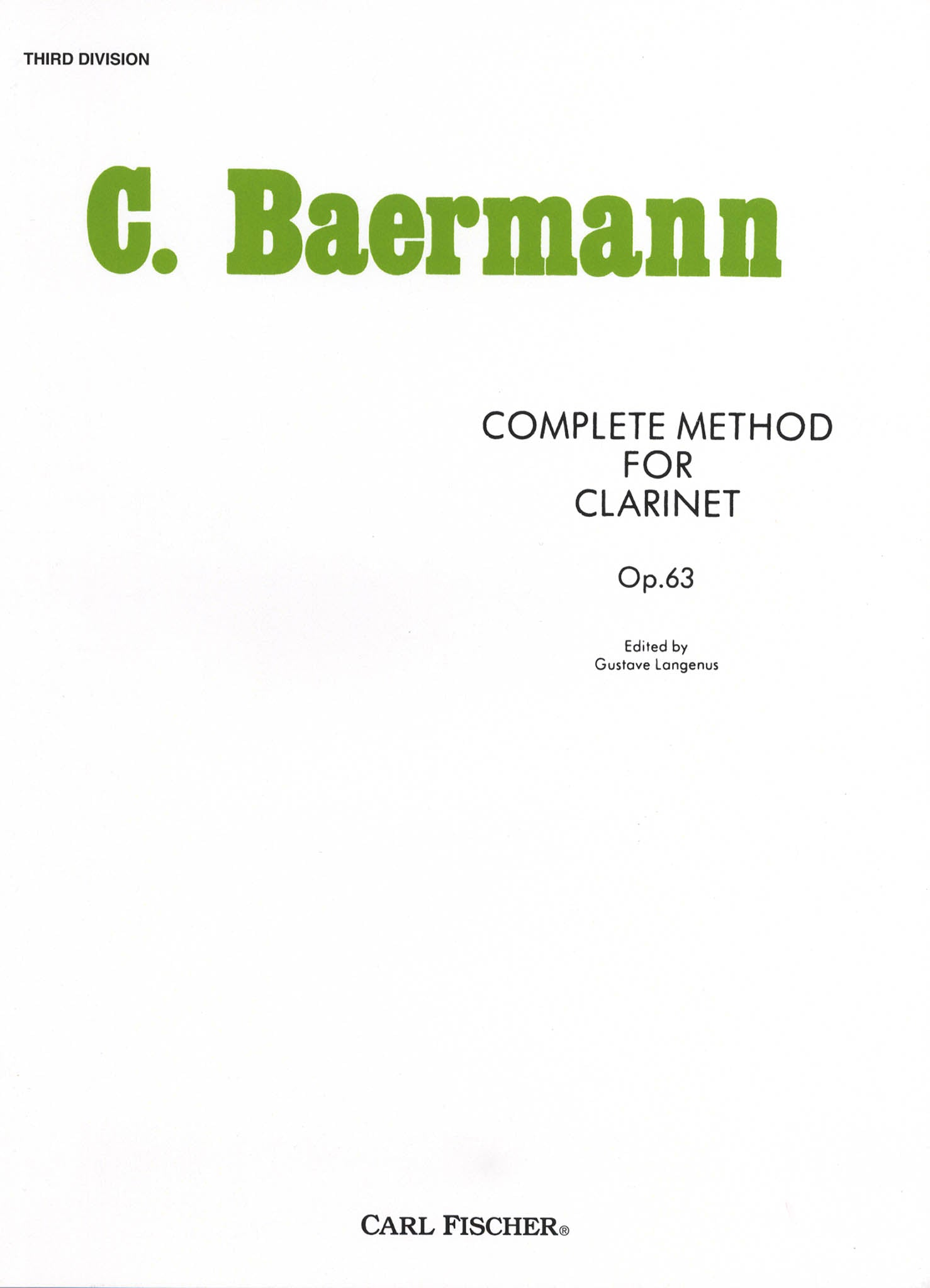 Daily Exercises from the Clarinet Method, Op. 63, Division 3 Cover