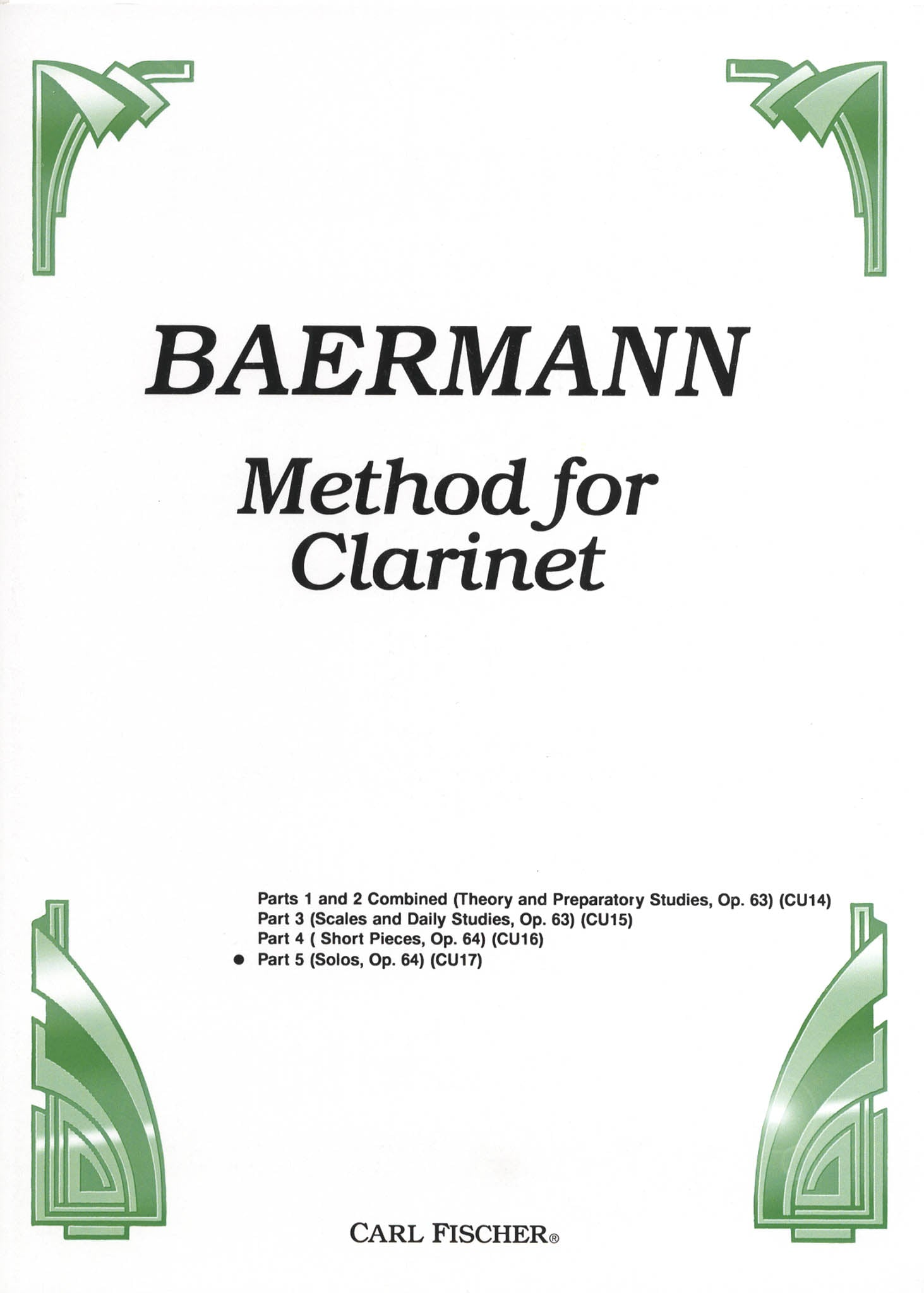 Complete Clarinet Method, Op. 64: Division 5 Cover