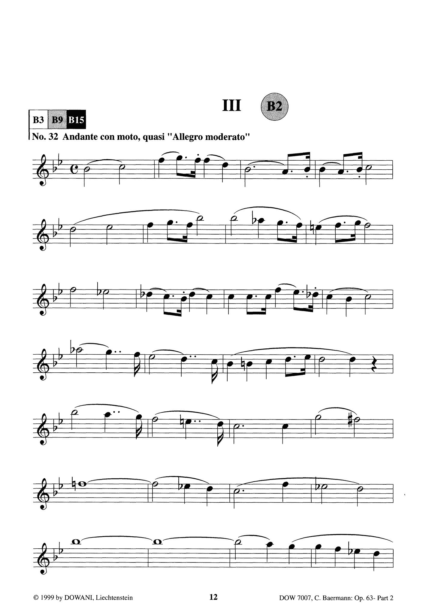 Clarinet Method, Op. 63, Div. II: Part 2 of 3 Clarinet part Page 12