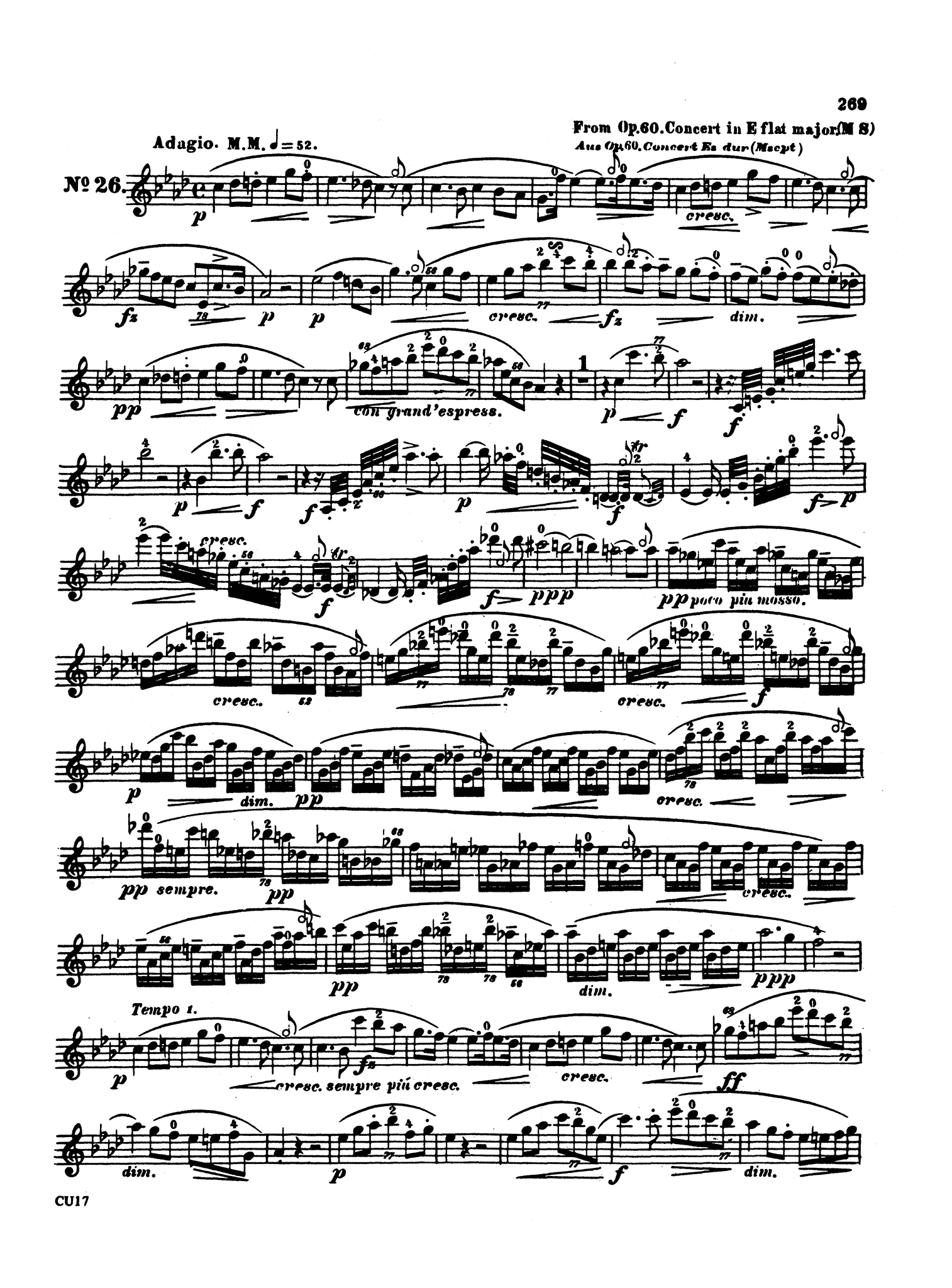 Complete Clarinet Method, Op. 64: Division 5 Page 269