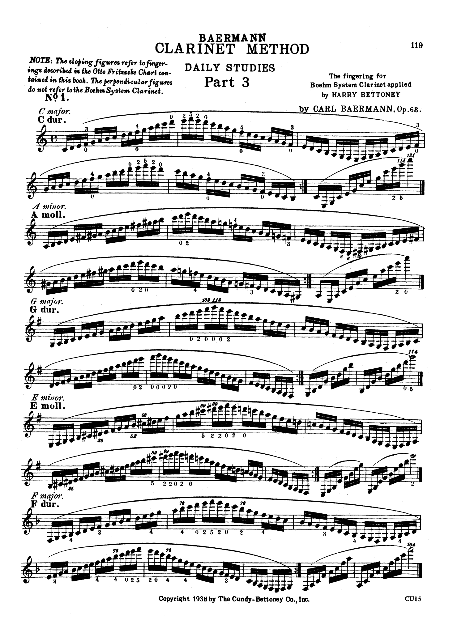 Complete Clarinet Method, Op. 63: Division 3 (Daily Studies) Page 119