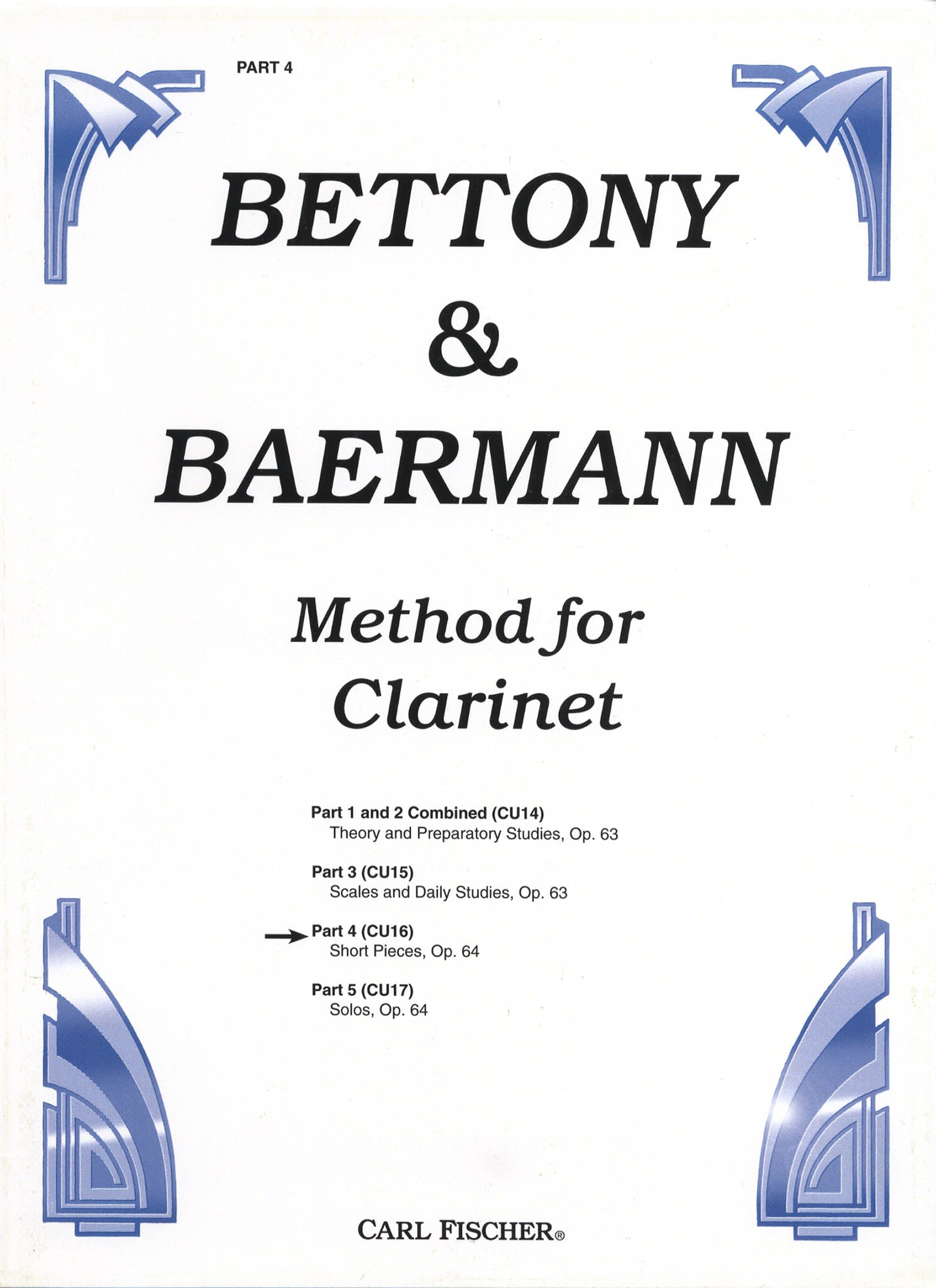 Complete Clarinet Method, Op. 64: Division 4 Cover