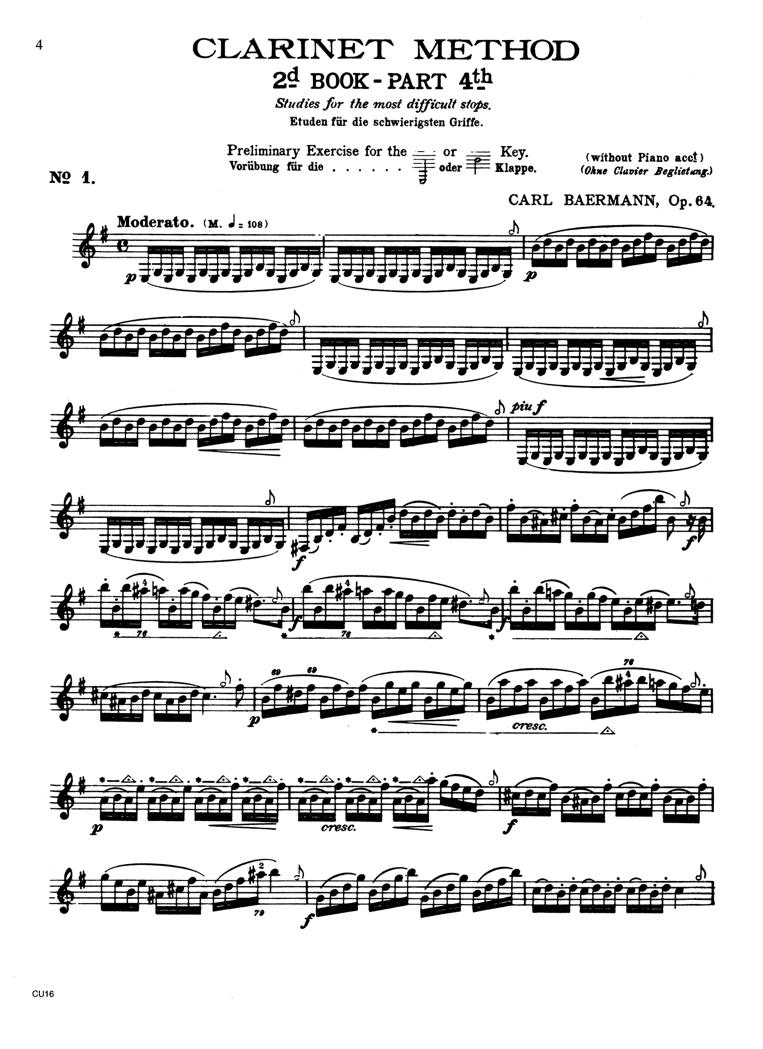 Complete Clarinet Method, Op. 64: Division 4 Page 4