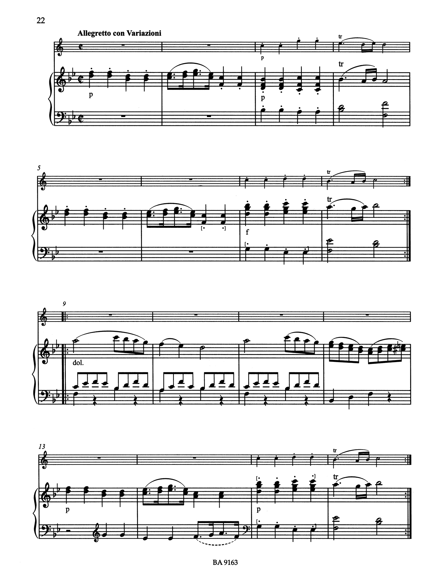 Grande Sonate after the Clarinet Quintet, K. 581 - Movement 4