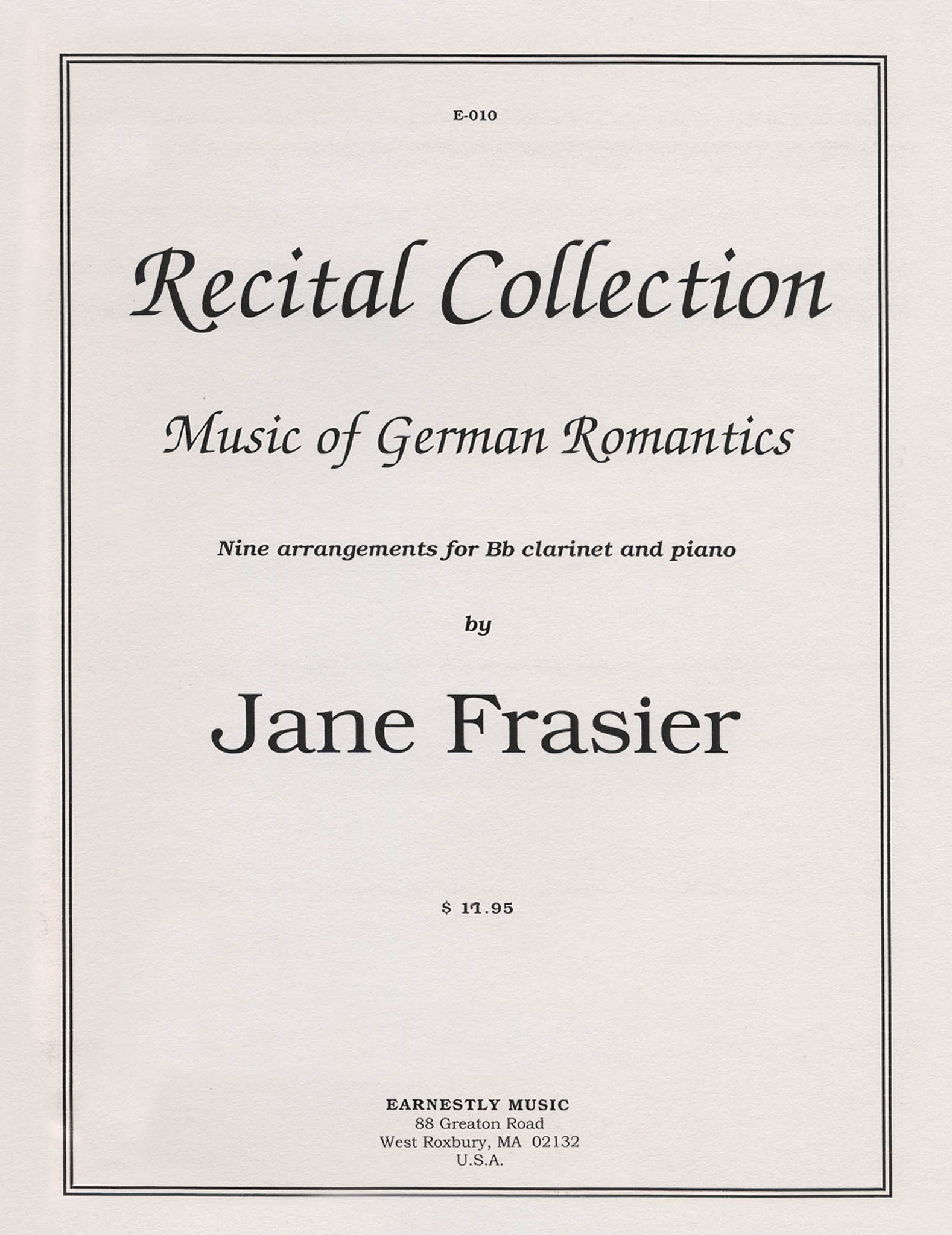 Frasier Recital Collection Cover