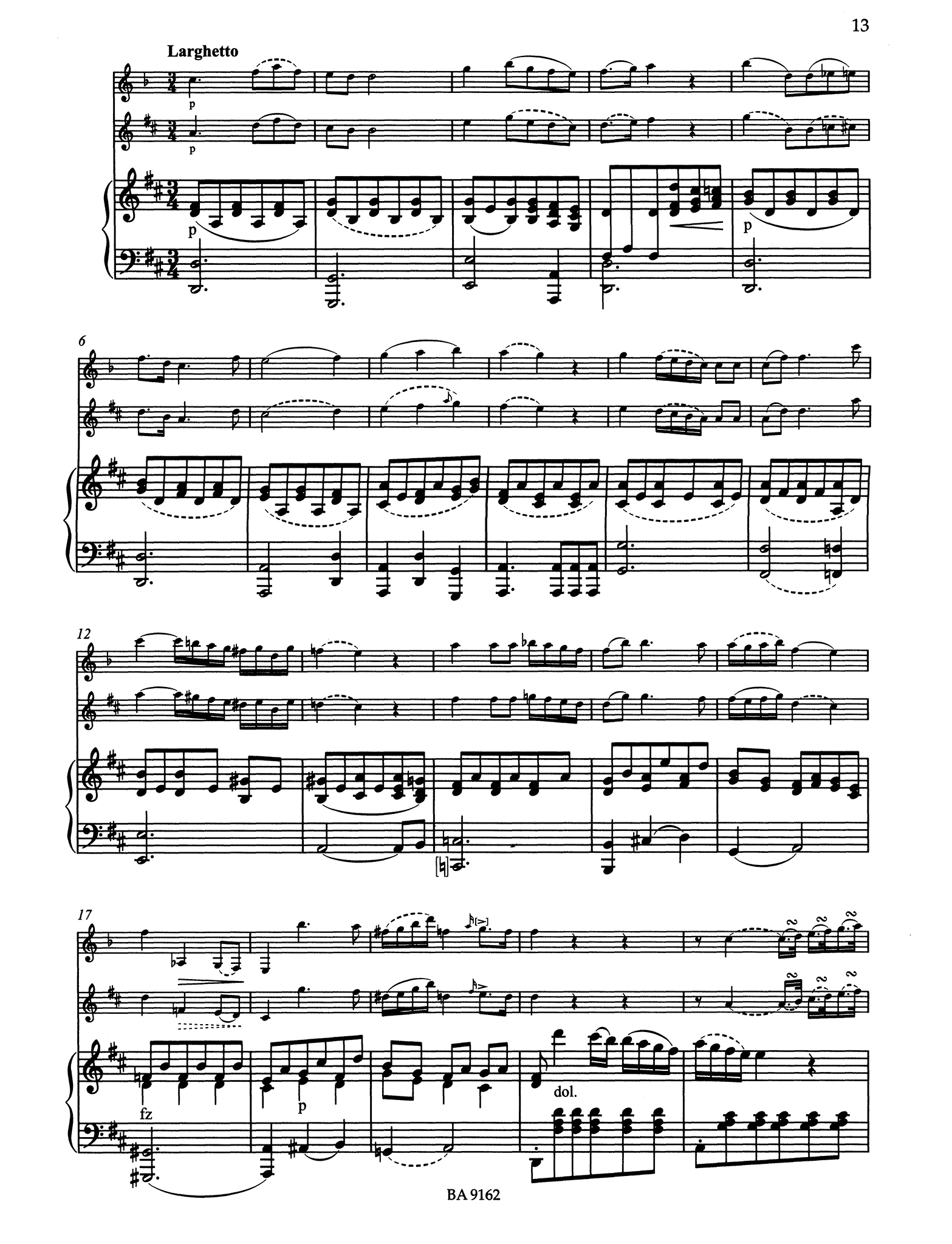 Grande Sonate after the Clarinet Quintet, K. 581 - Movement 2