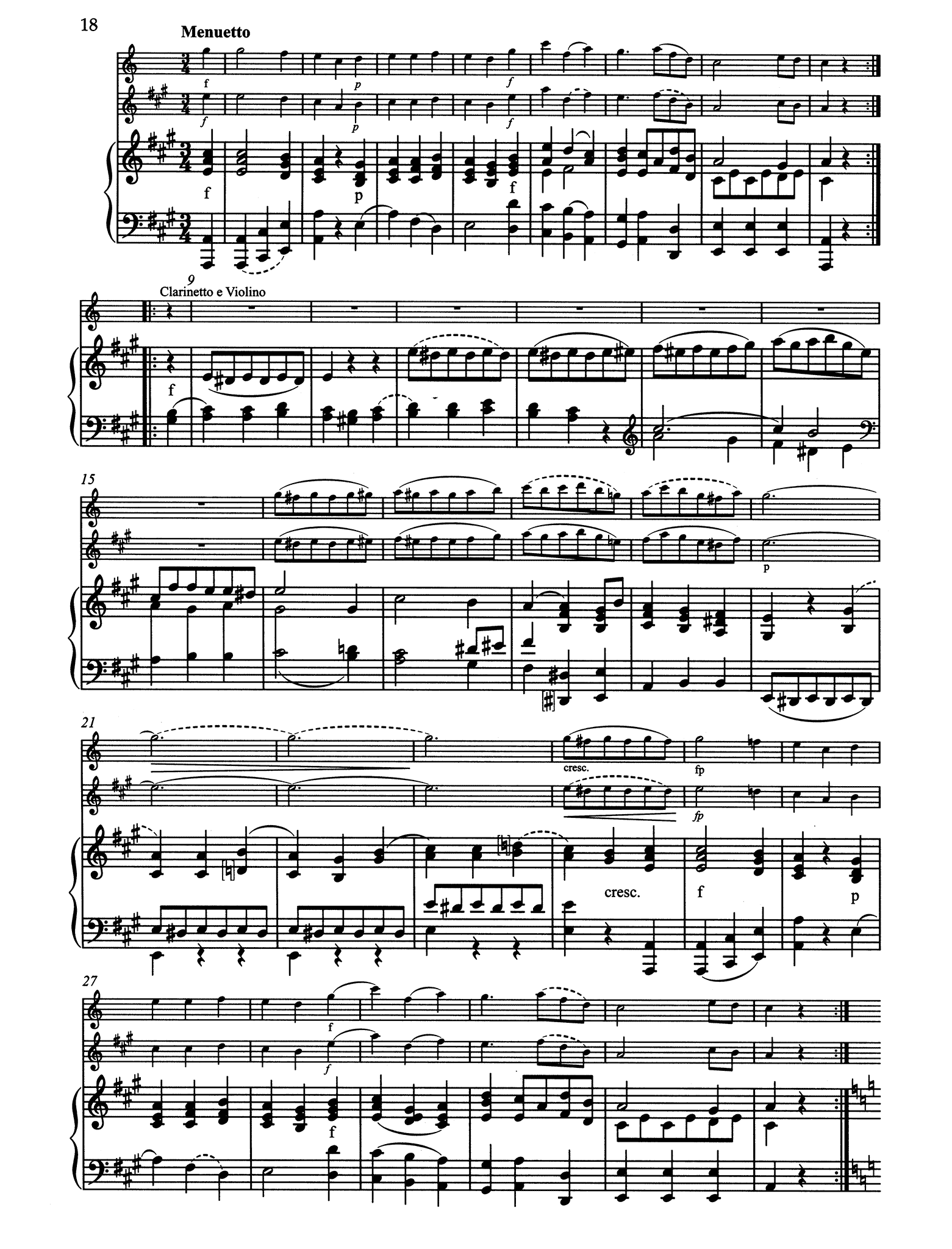 Grande Sonate after the Clarinet Quintet, K. 581 - Movement 3