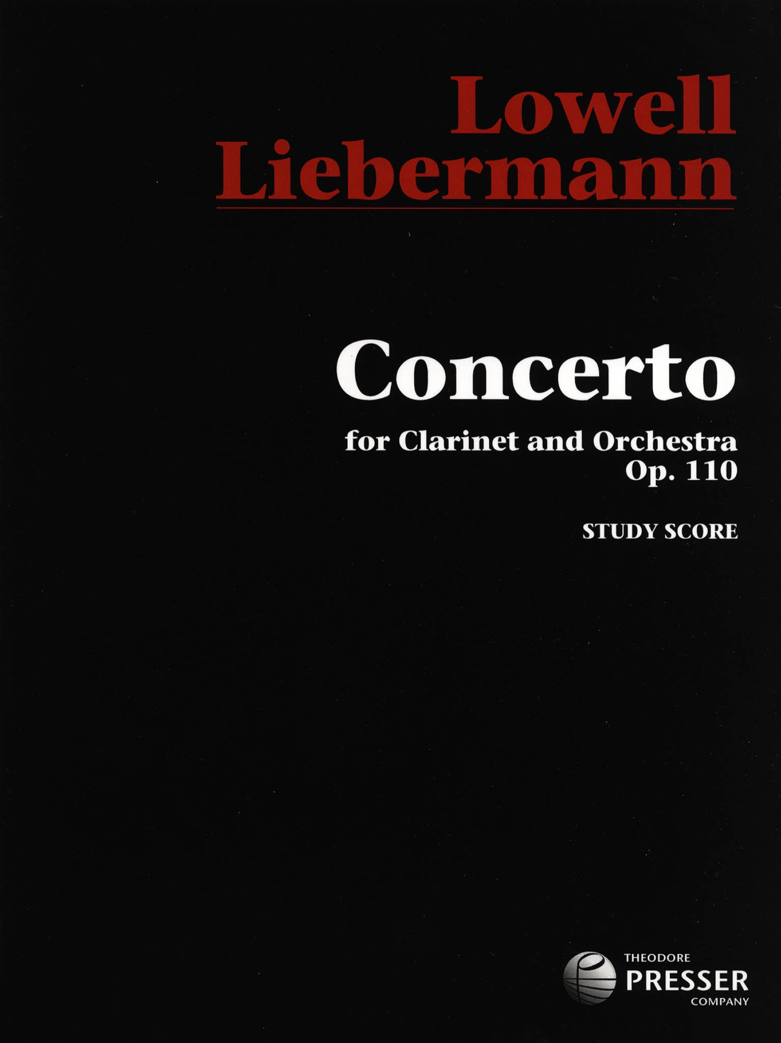 Clarinet Concerto, Op. 110 Cover
