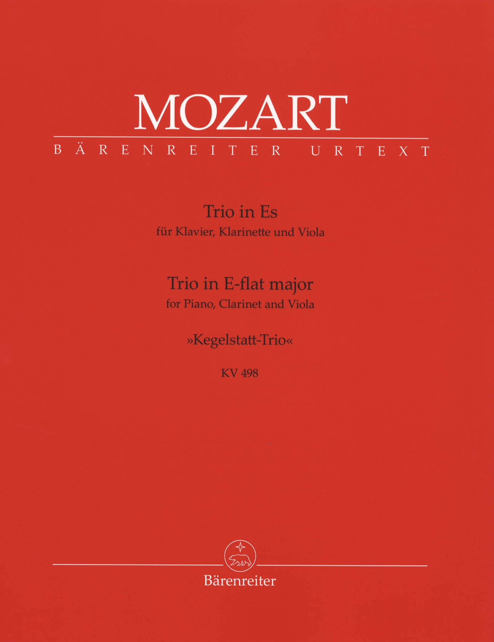 Trio in E-flat Major, K. 498, 'Kegelstatt' Cover