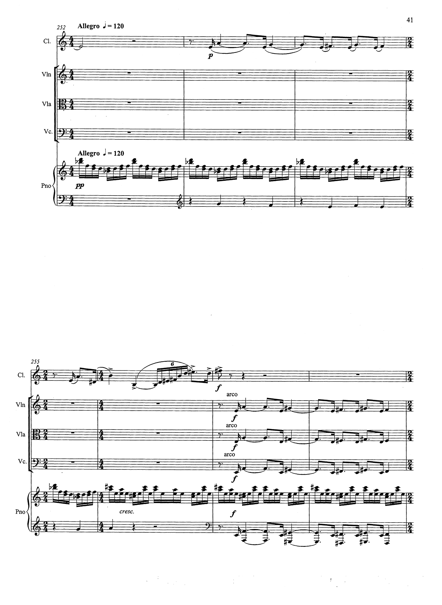 Quintet, Op. 26 - Movement 3
