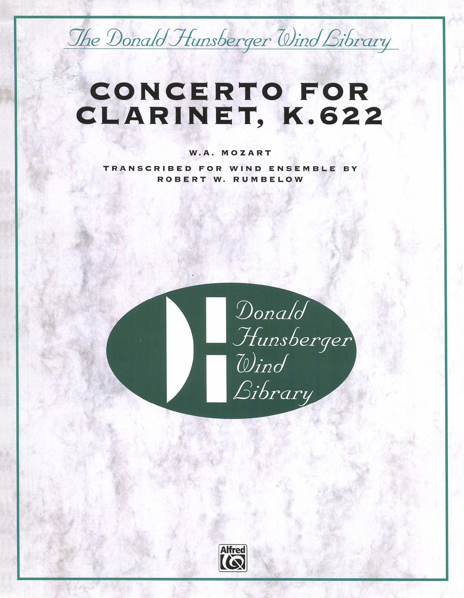 Mozart Clarinet Concerto for wind ensemble Score Cover