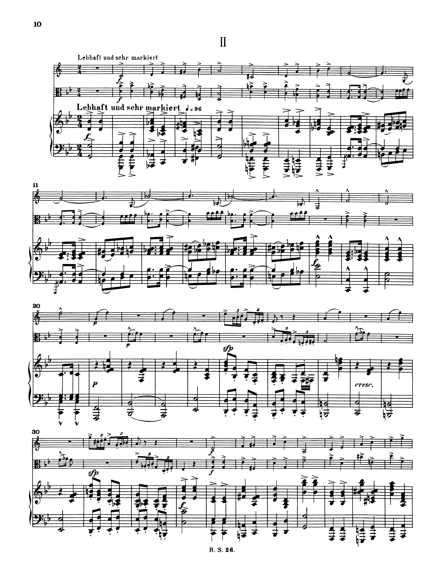 Schumann Märchenerzählungen (Fairy Tales), Op. 132 - Movement 2