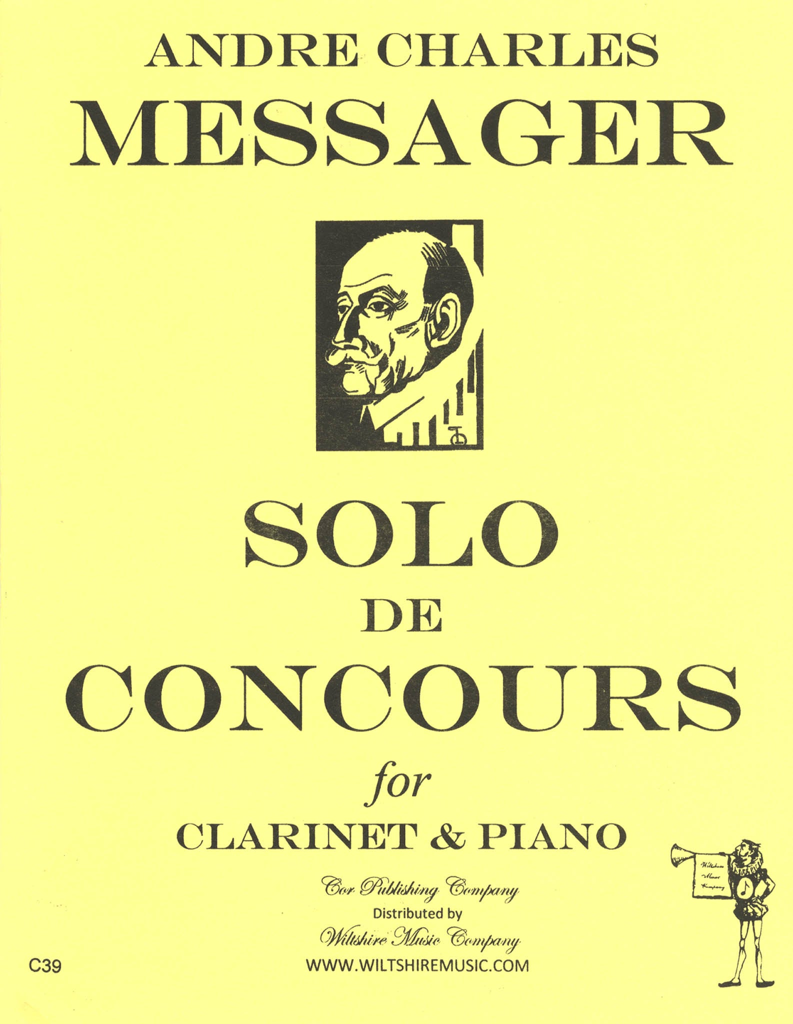 Messager Solo de concours for Clarinet & Piano Cover