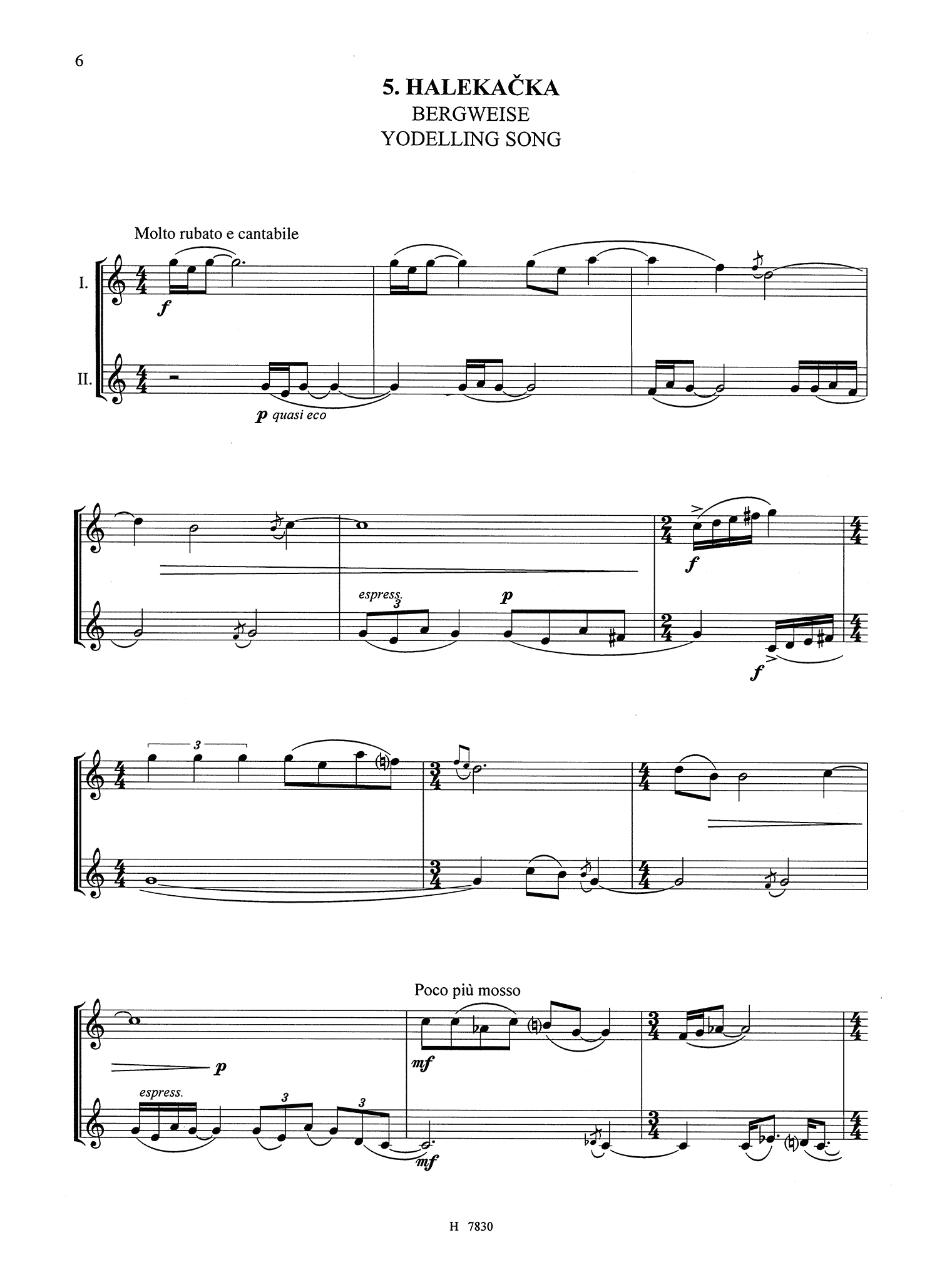 Špalíček, Easy Pieces for 2 Clarinets Page 6