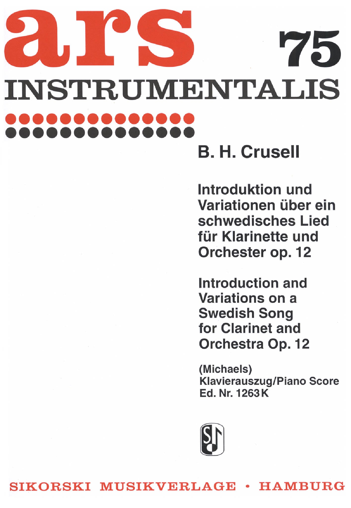 Crusell Introduction et Air suedois, Op. 12 Cover