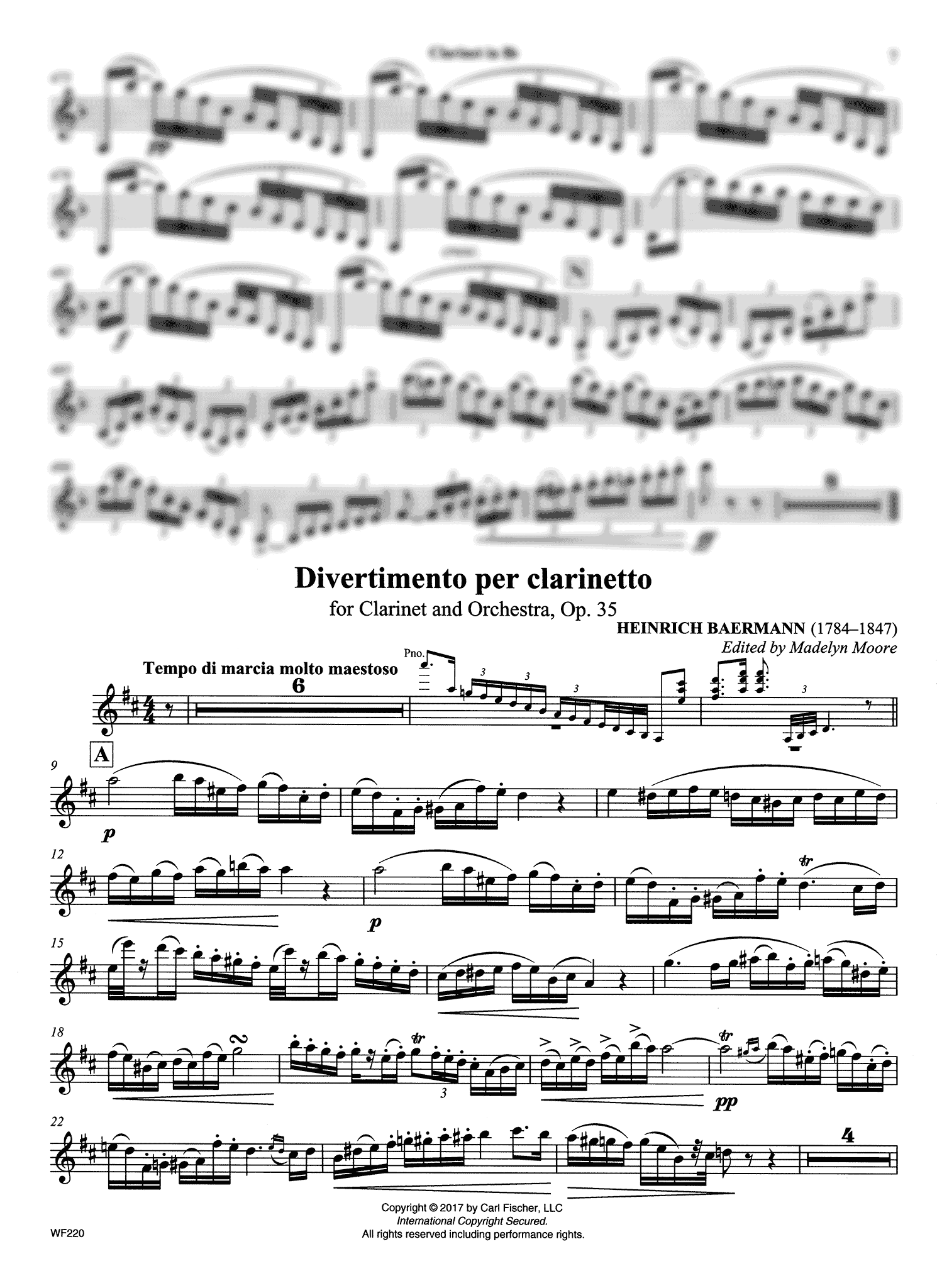 Divertimento, Op. 35 Clarinet part