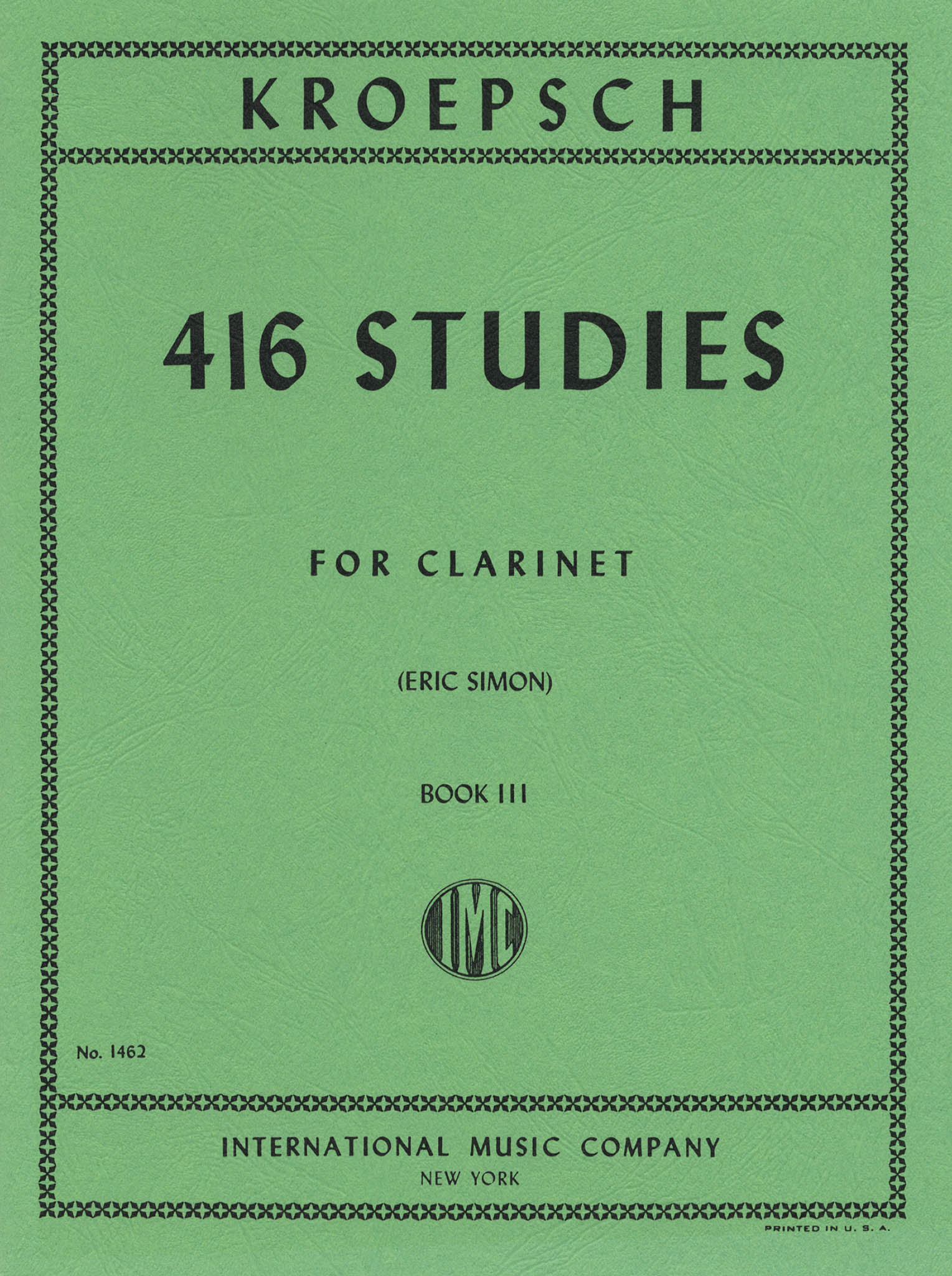 416 Progressive Studies for Clarinet, Book 3 Cover
