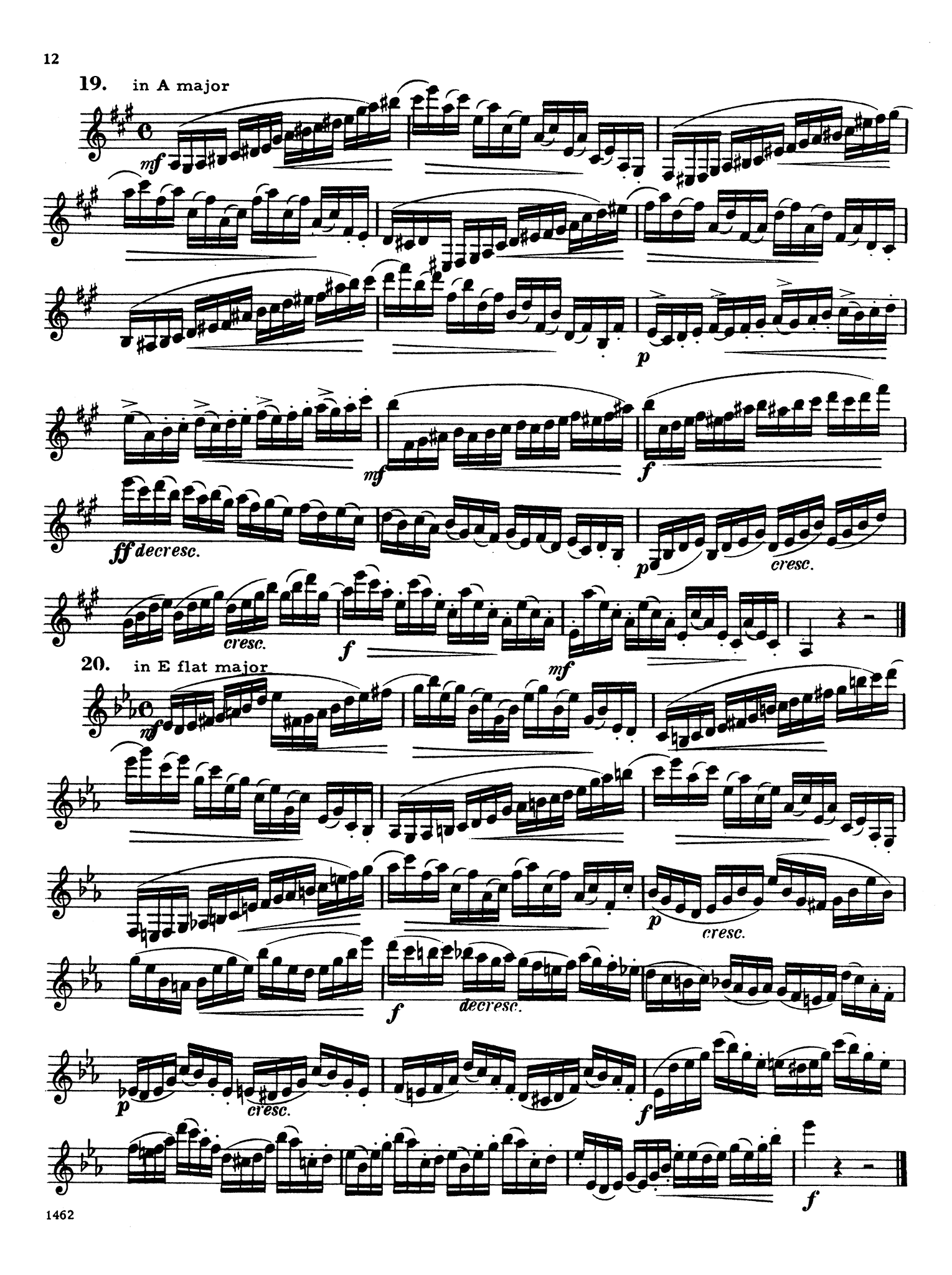 416 Progressive Studies for Clarinet, Book 3 Page 12