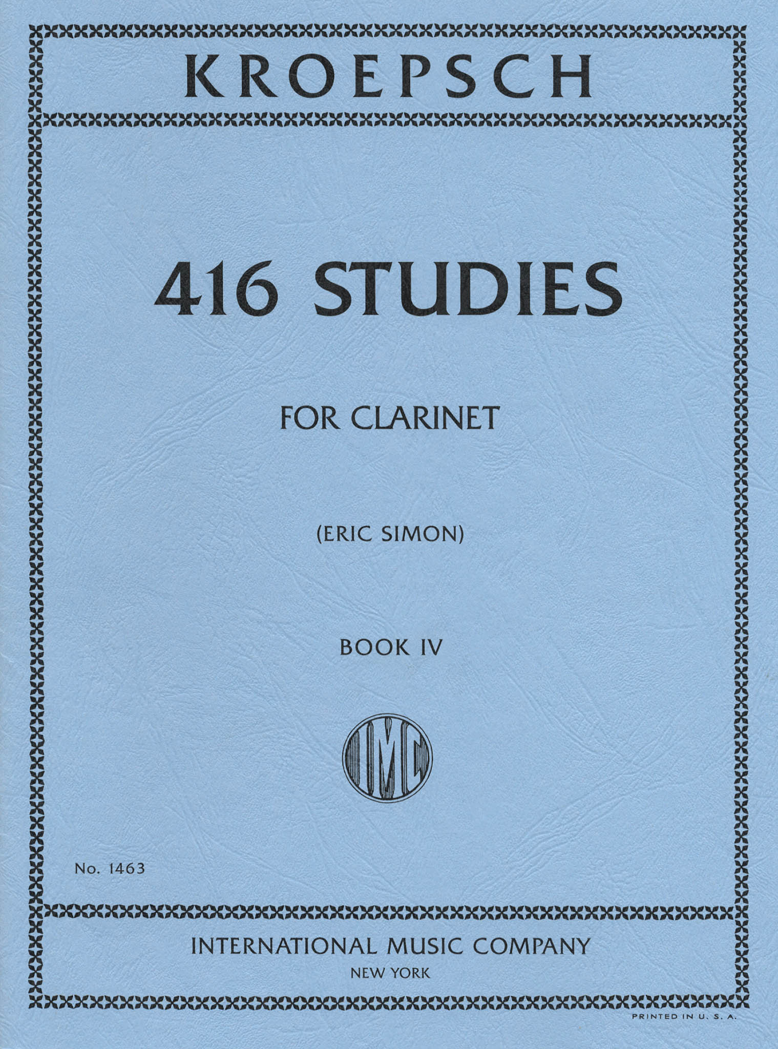 416 Progressive Studies for Clarinet, Book 4 Cover