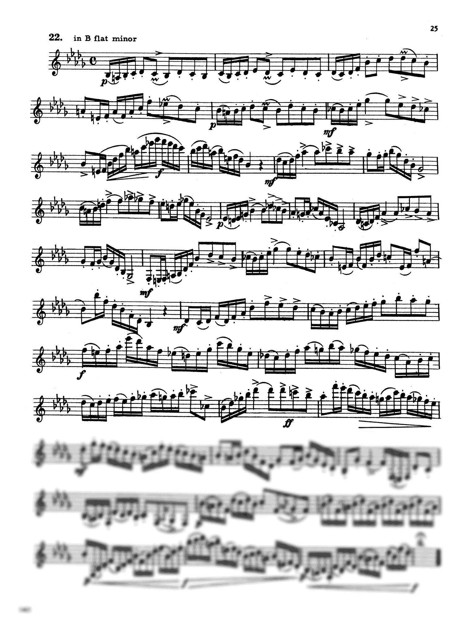 416 Progressive Studies for Clarinet, Book 4 Page 25