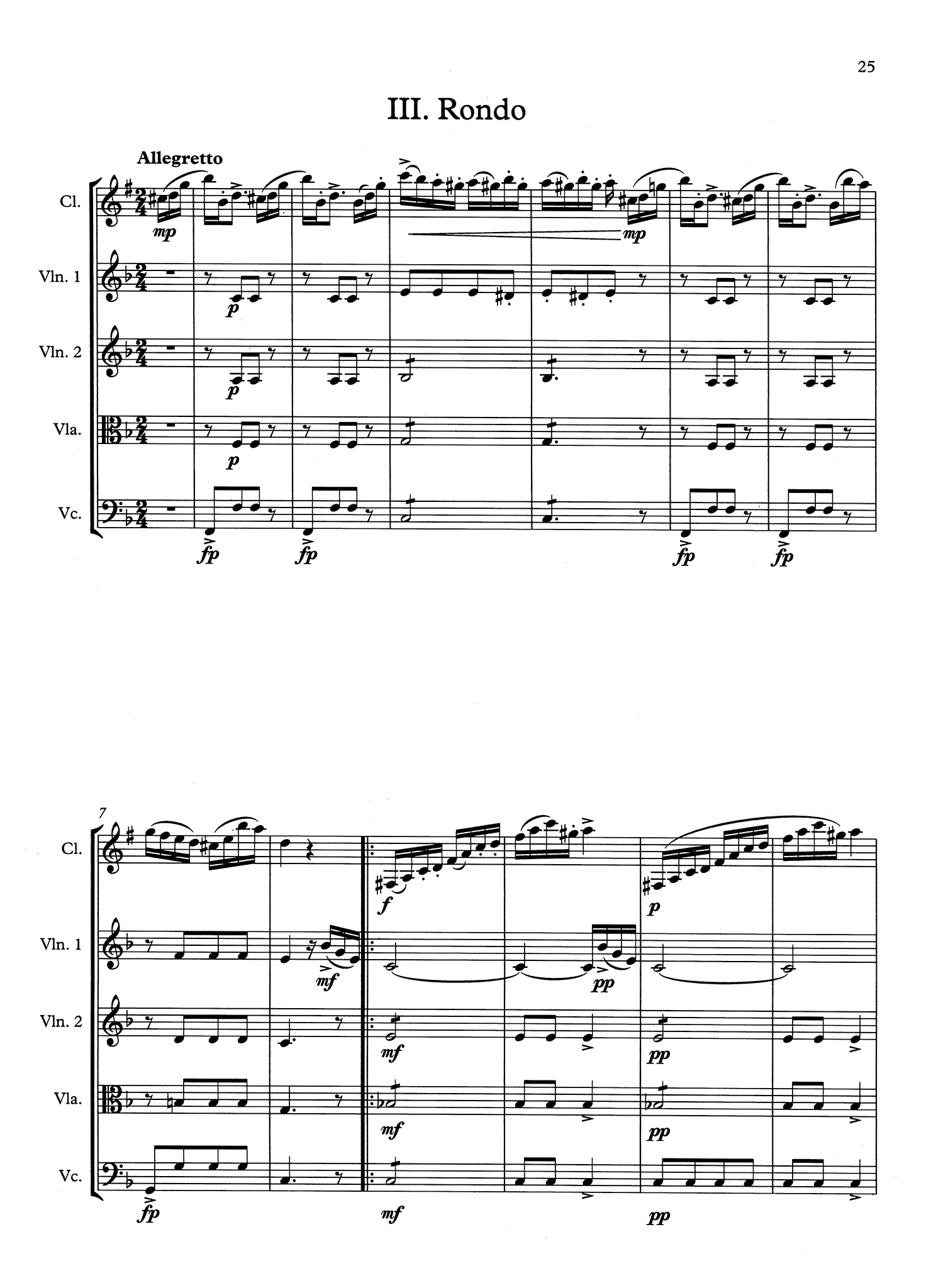 Clarinet Concerto No. 1, Op. 73 - Movement 3