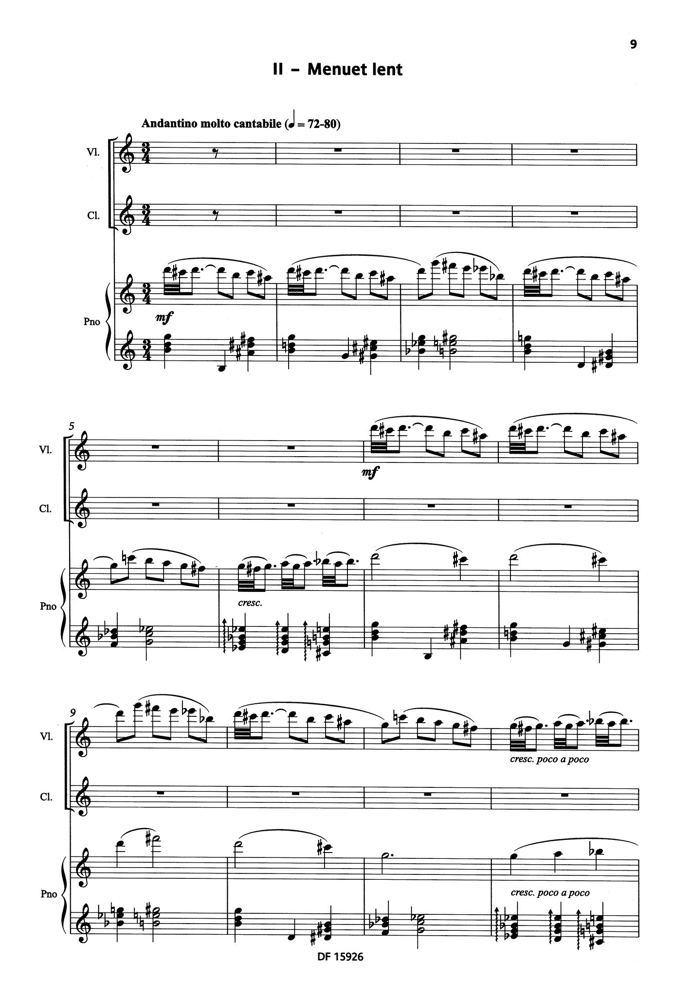 Bacri A Smiling Suite, Op. 100b - Movement 2