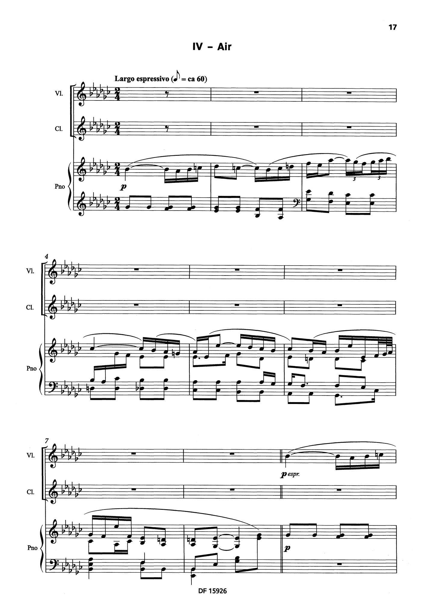 Bacri A Smiling Suite, Op. 100b - Movement 4