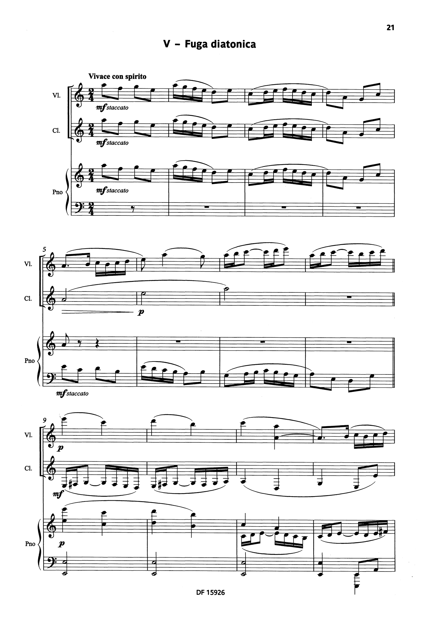 Bacri A Smiling Suite, Op. 100b - Movement 5