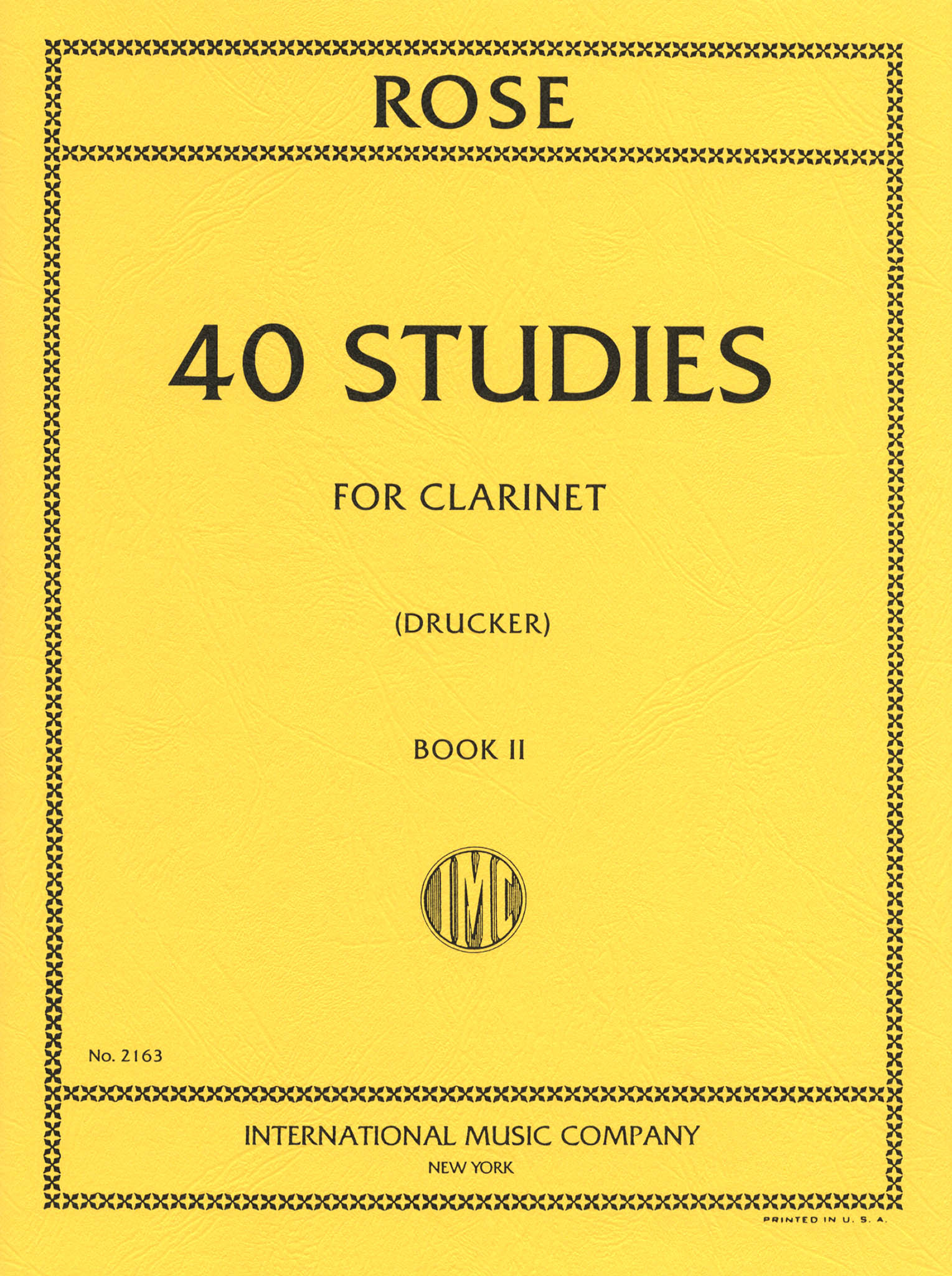 40 Études for Clarinet, Book 2 of 2 Cover