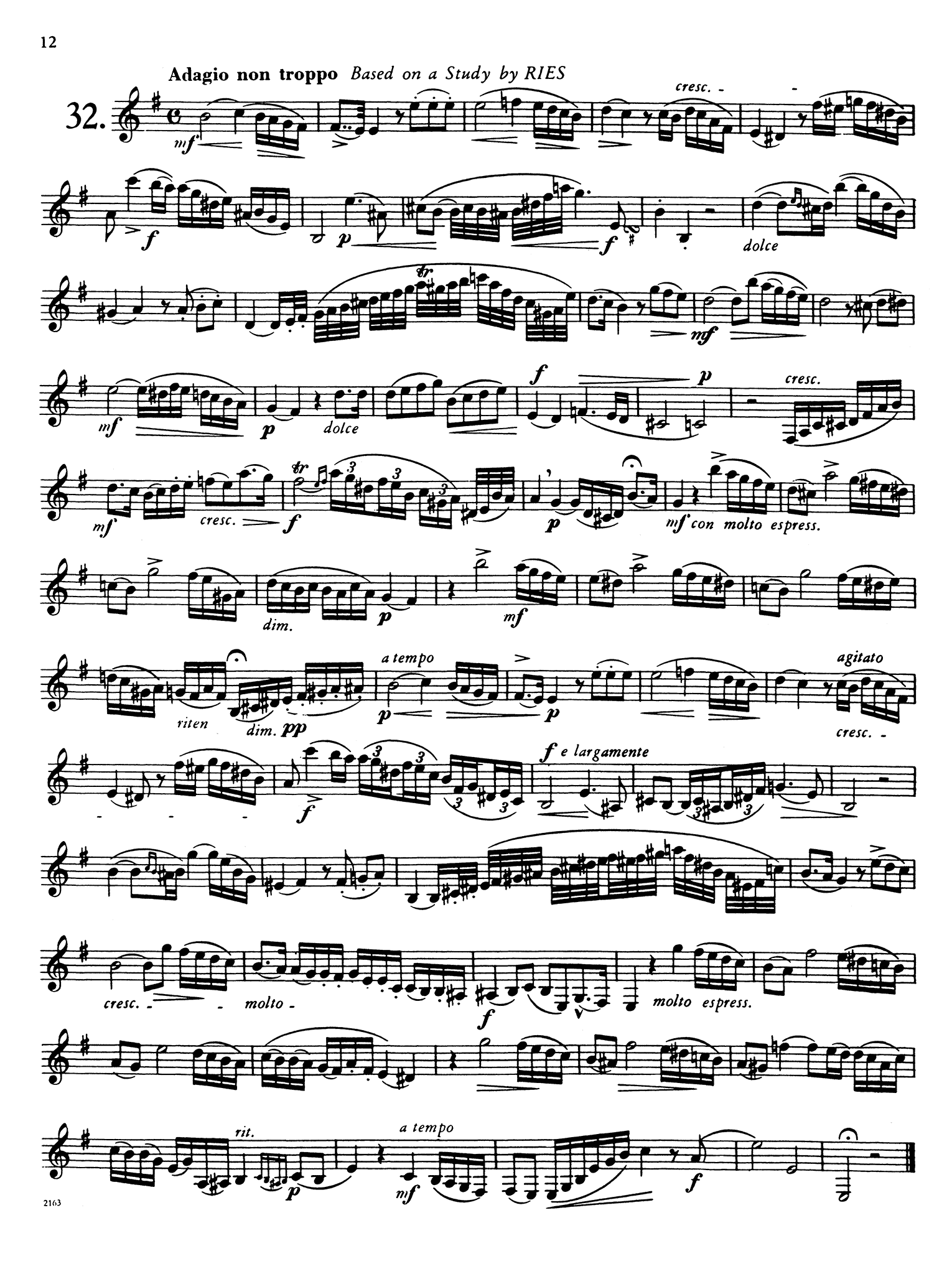 40 Études for Clarinet, Book 2 of 2 Page 12