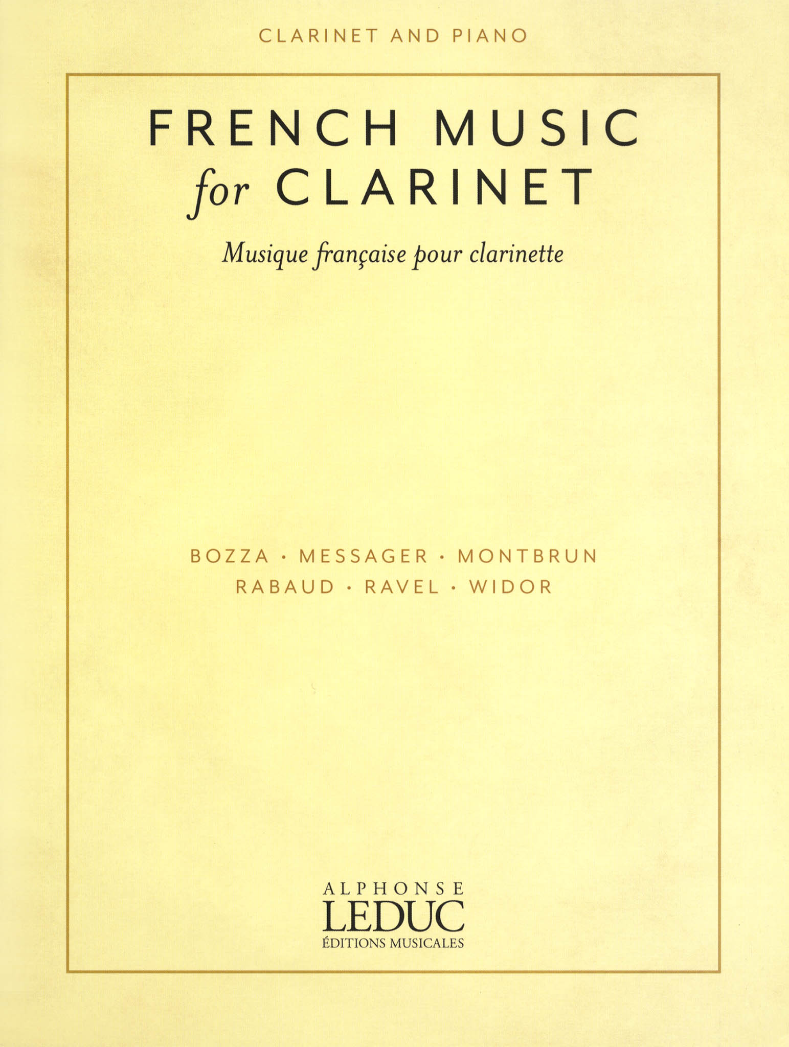 French Clarinet Music compiled by Todd Levy