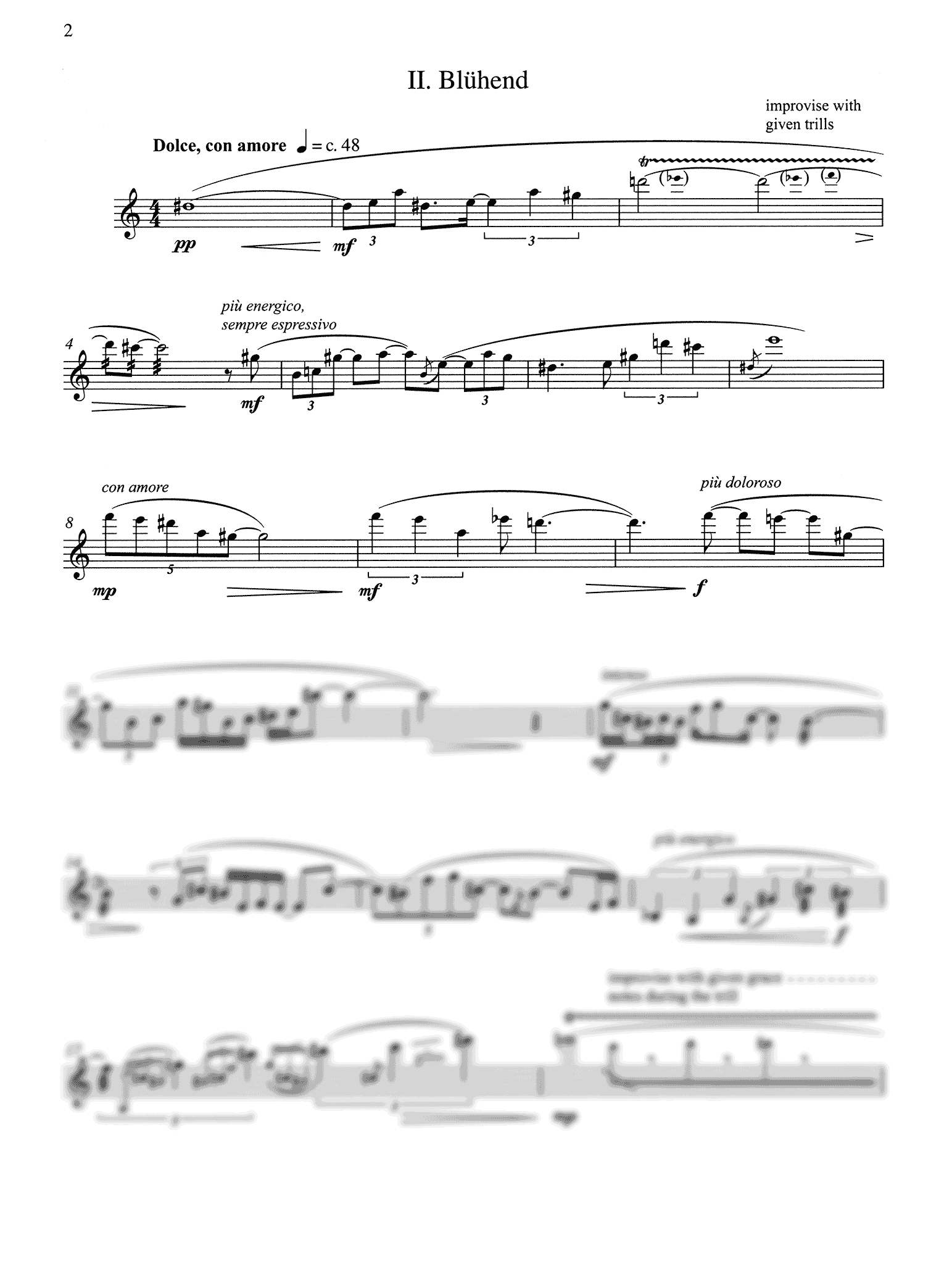 Saariaho Duft for solo clarinet - Movement 2