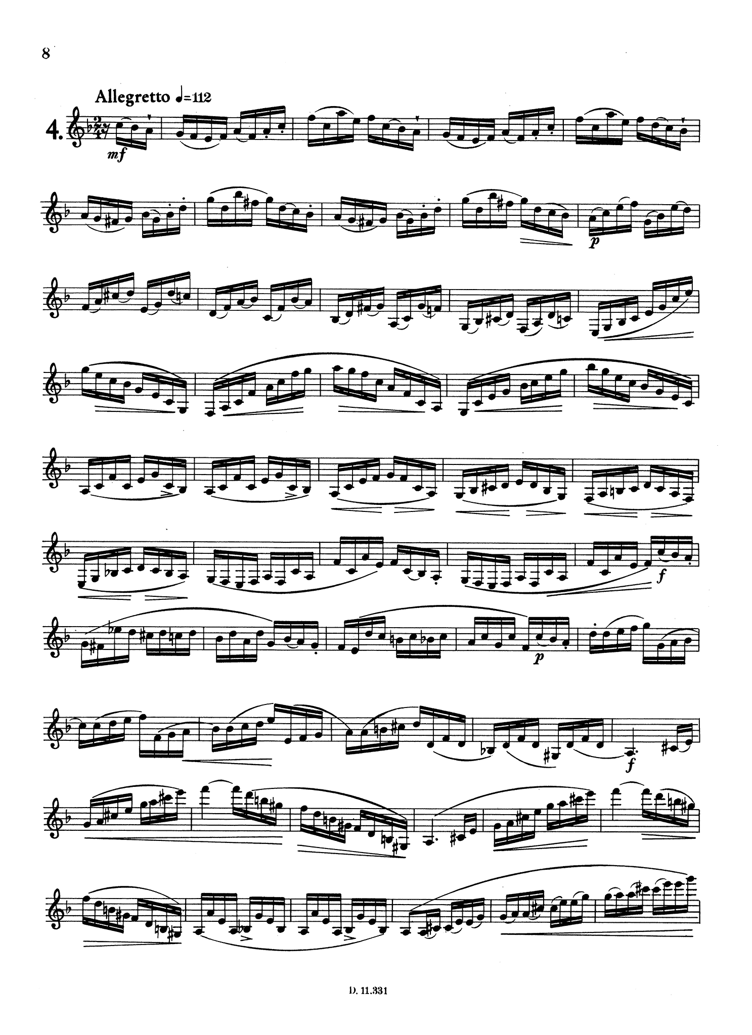 Gambaro 10 Caprices for Clarinet, Op. 9 Page 8