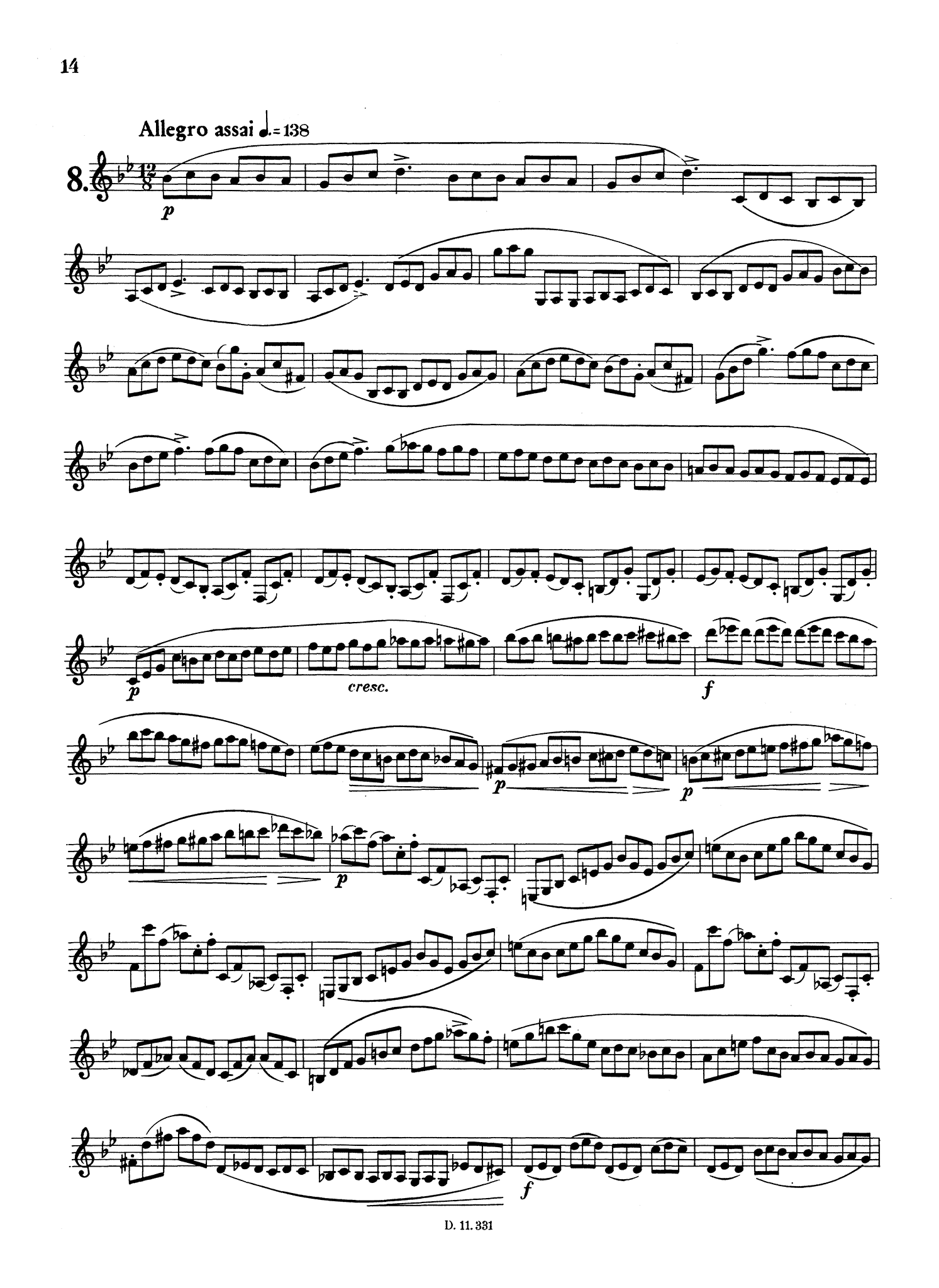 Gambaro 10 Caprices for Clarinet, Op. 9 Page 14