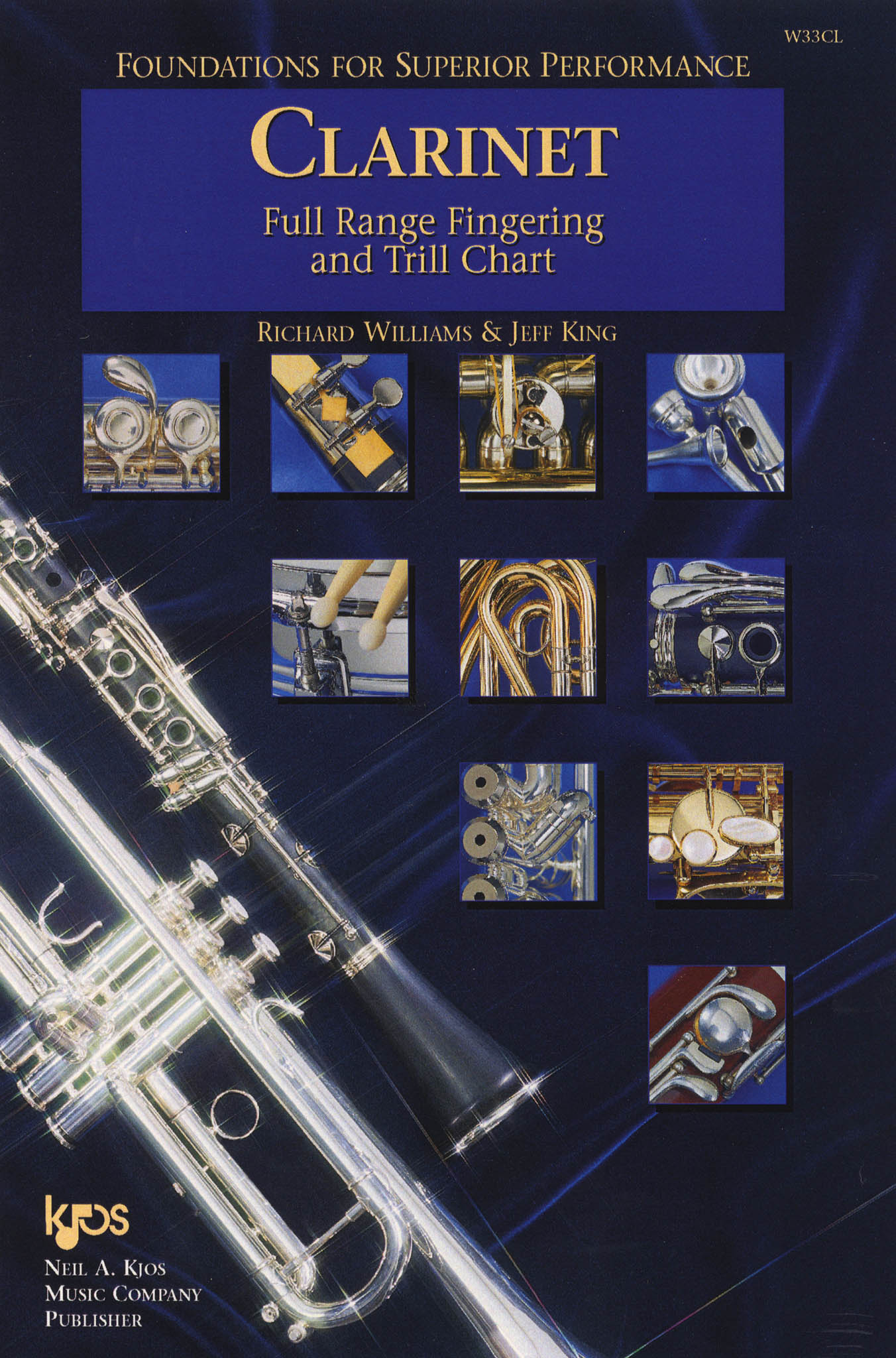 Clarinet Full Range Fingering & Trill Chart Cover