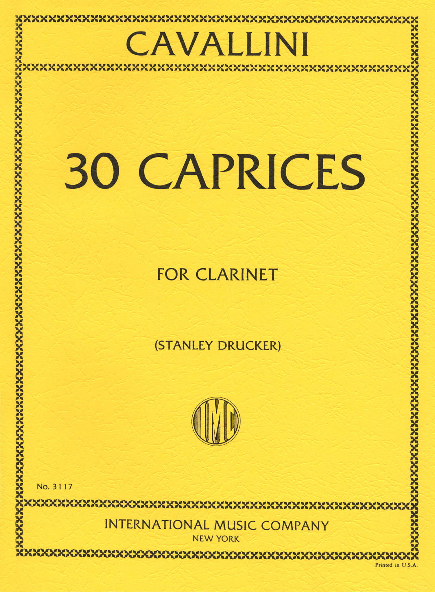 30 Caprices for Clarinet Cover