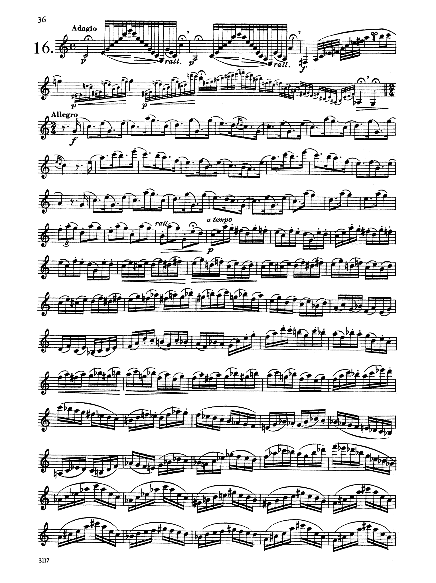 30 Caprices for Clarinet Page 36