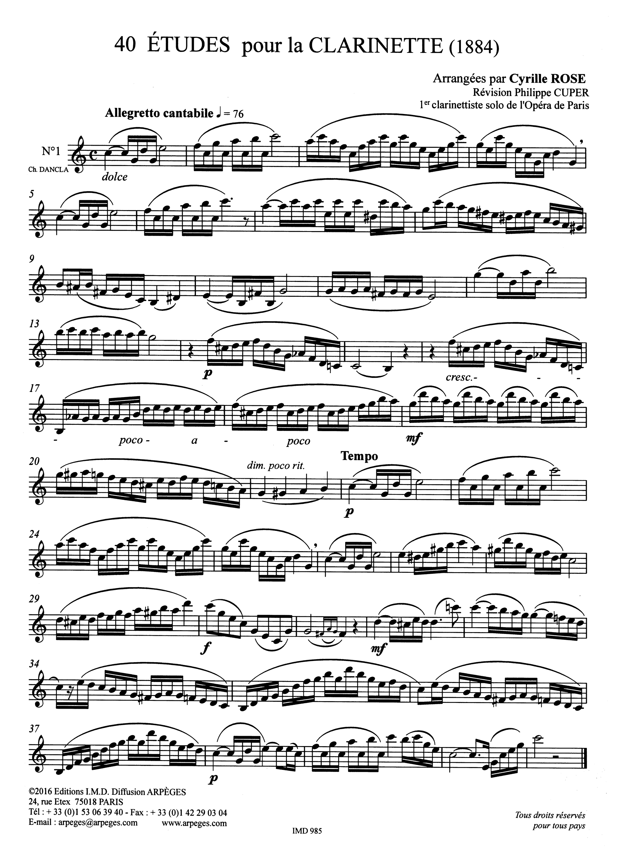 40 Études for Clarinet Page 2