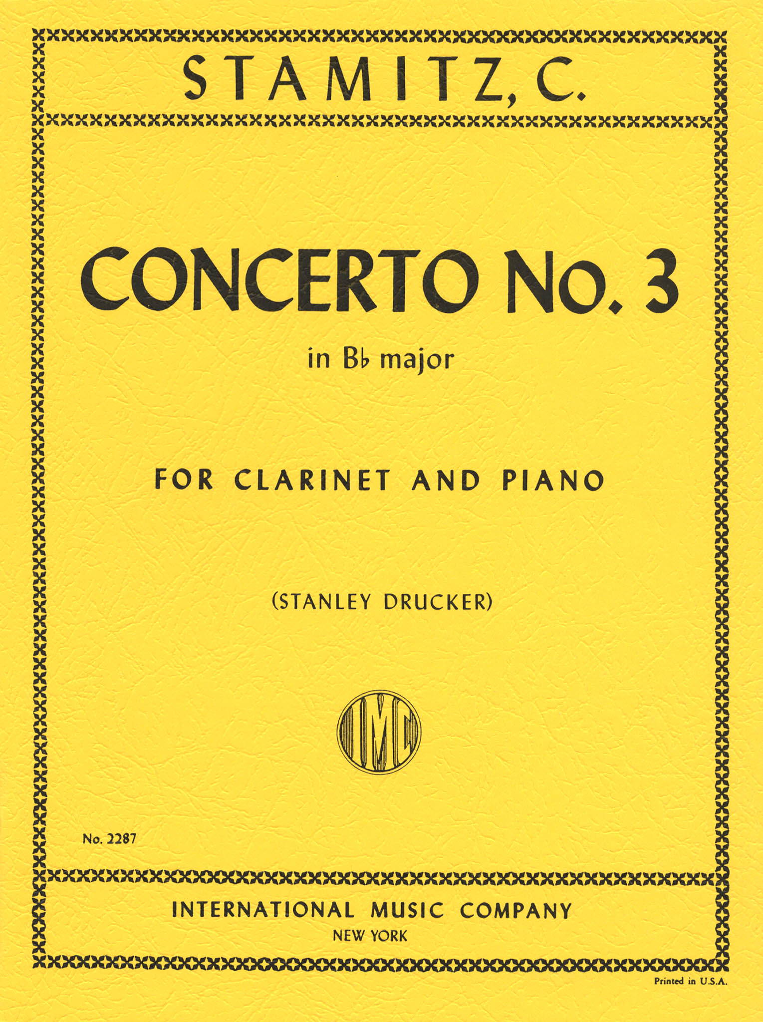 Clarinet Concerto No. 3 in B-flat Major Cover