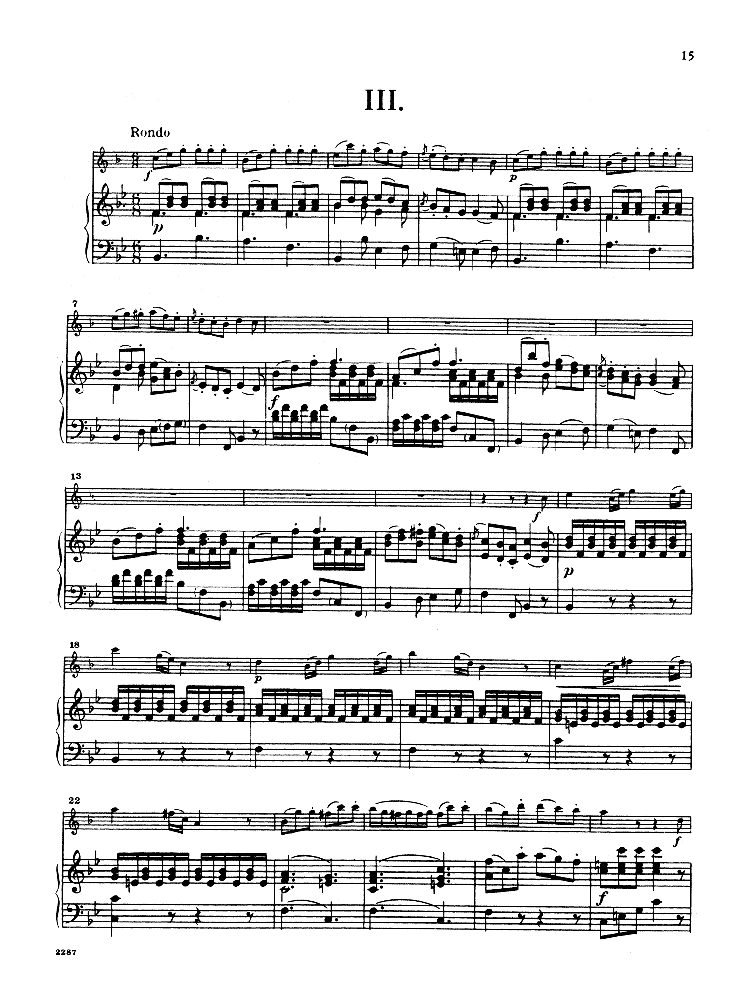 Clarinet Concerto No. 3 in B-flat Major - Movement 3