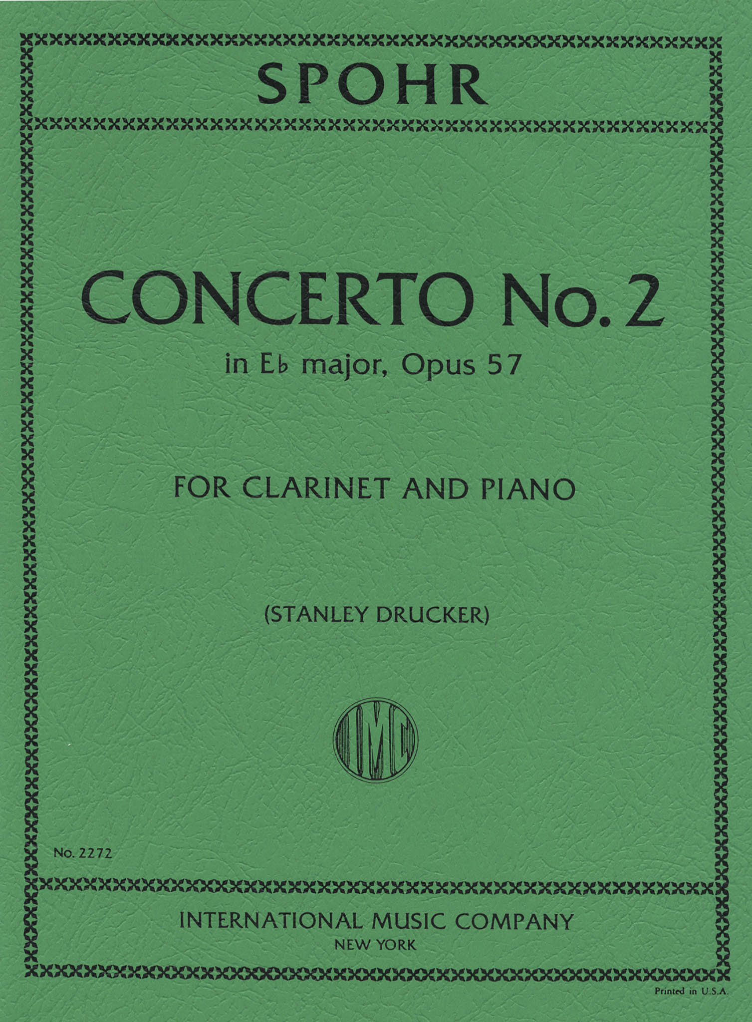Clarinet Concerto No. 2 in E-flat Major, Op. 57 Cover